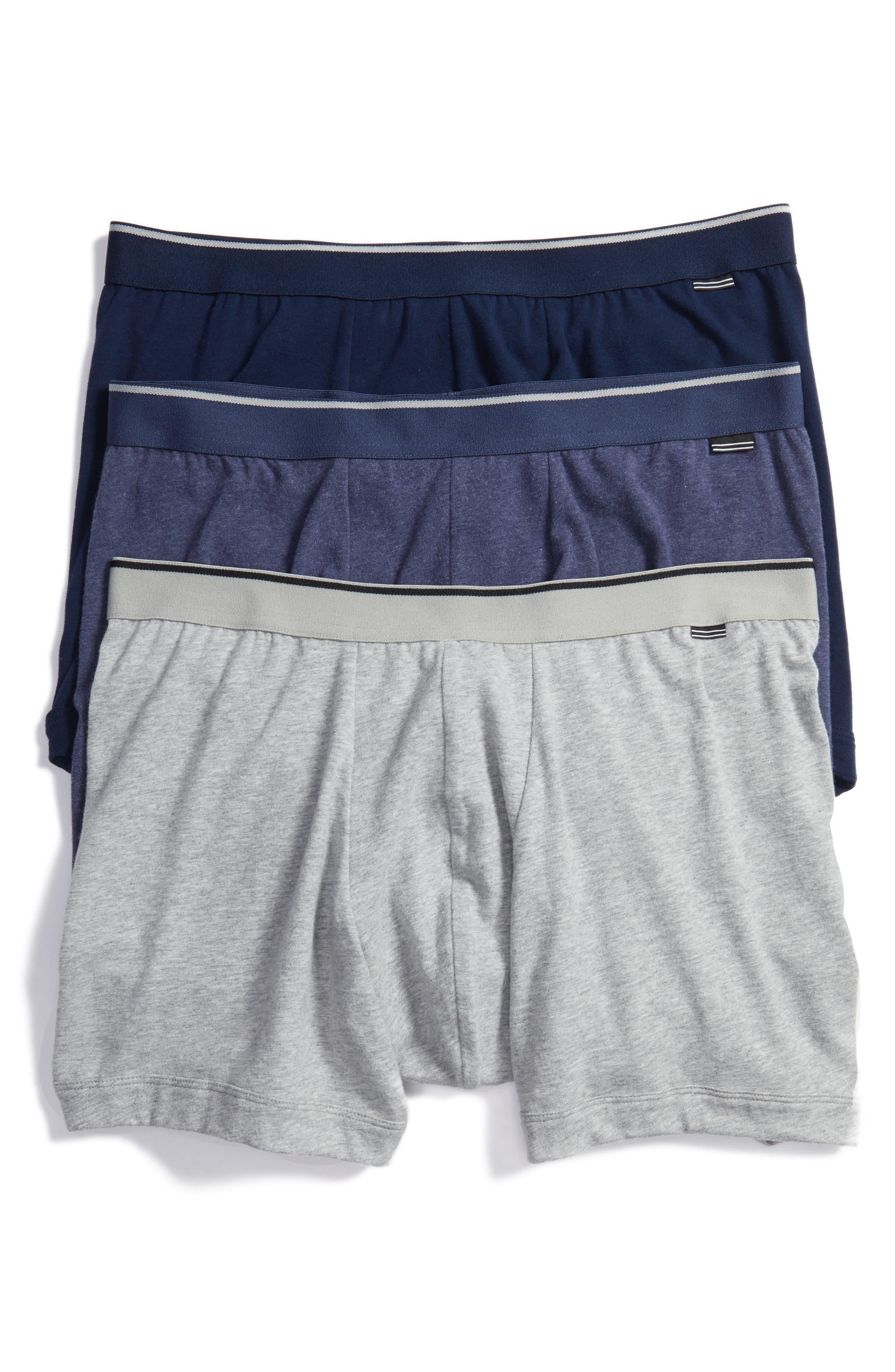 Main Image - Nordstrom Men's Shop 3-Pack Stretch Cotton Boxer Briefs