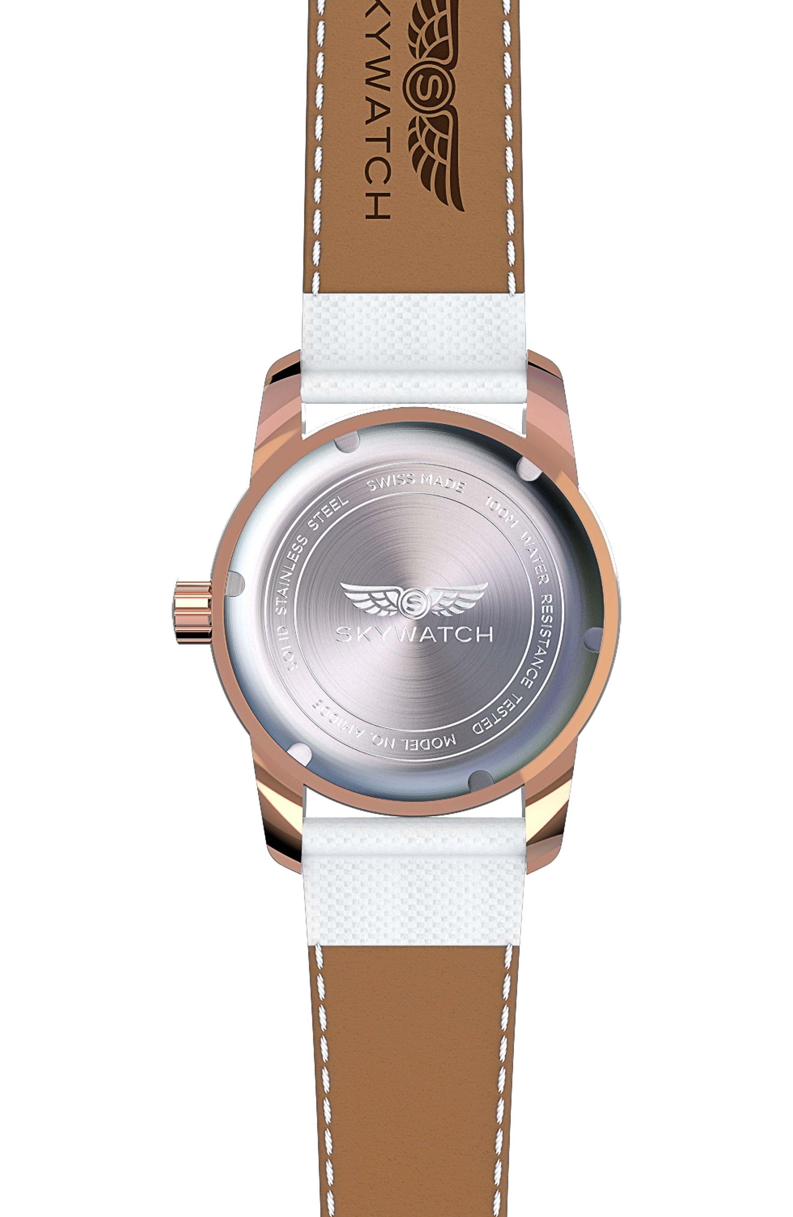 Alternate Image 2  - SKYWATCH Classic Woven Strap Watch, 38mm