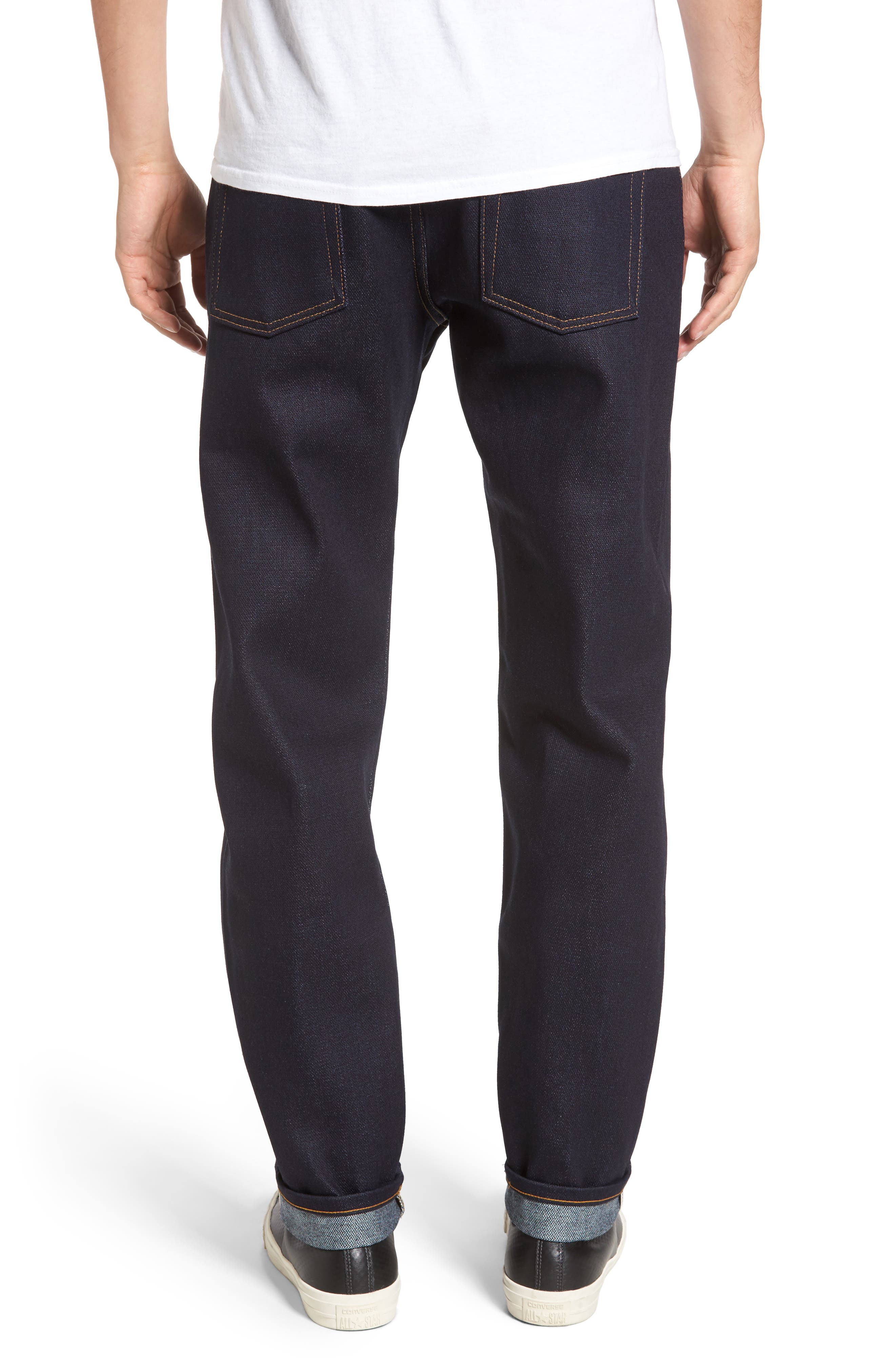 Alternate Image 2  - Naked & Famous Denim Easy Guy Slouchy Skinny Fit Jeans (Elephant 6)