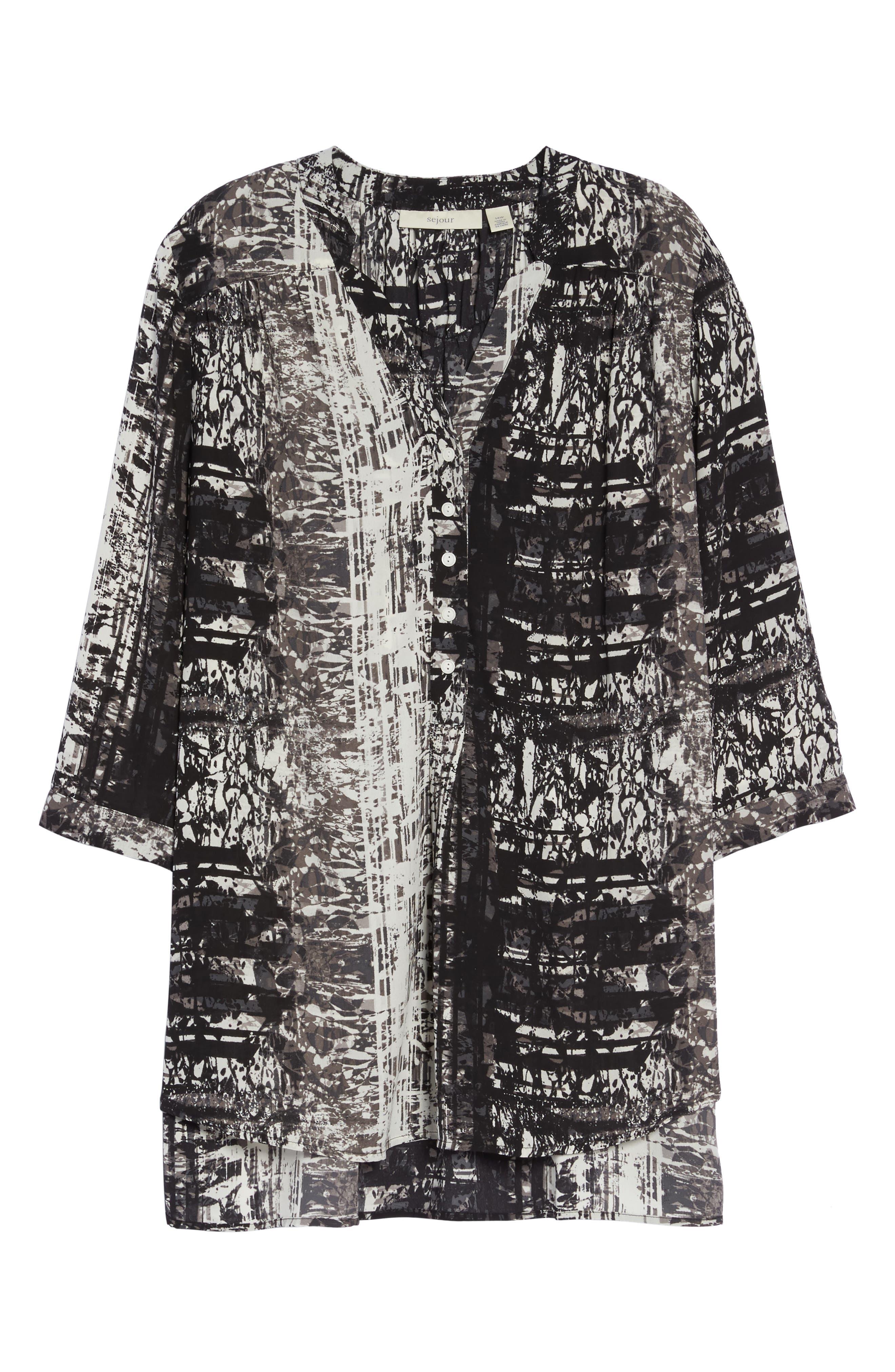 Alternate Image 6  - Sejour Notch Collar Henley Tunic (Plus Size)