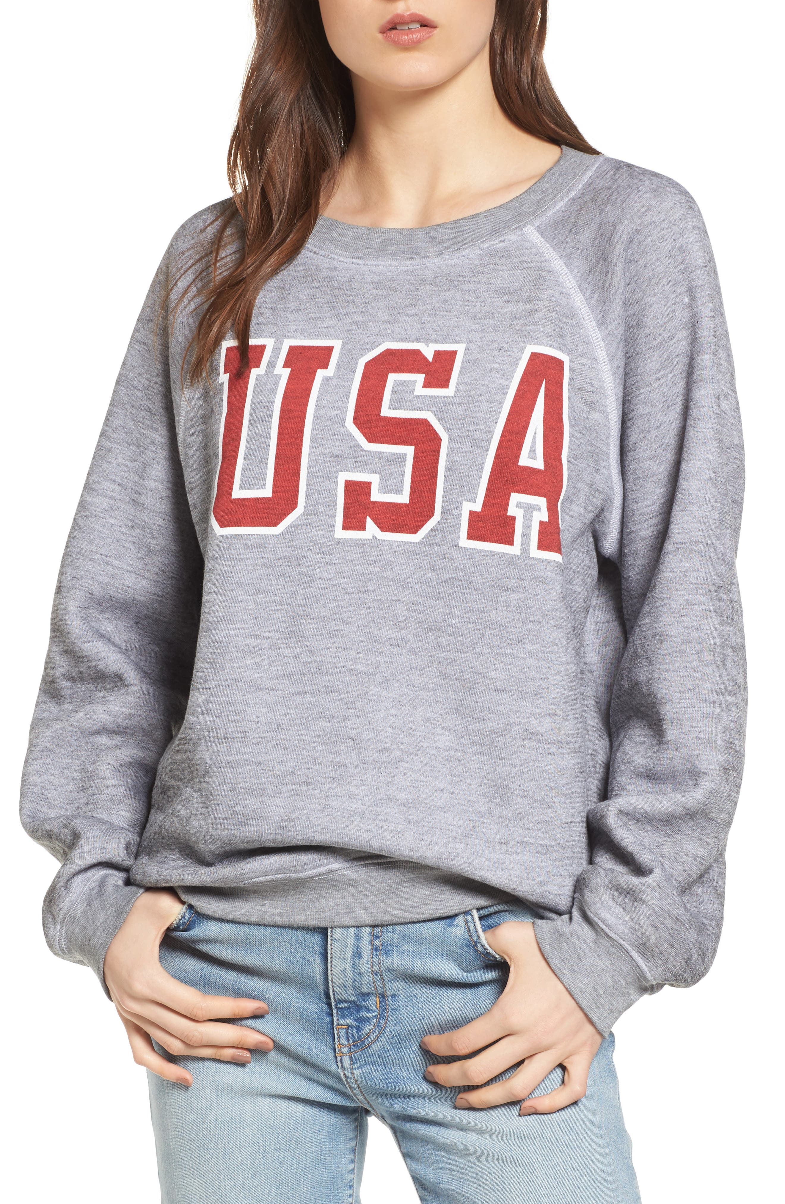 Alternate Image 1 Selected - Wildfox Baggy Beach Jumper - USA Pullover