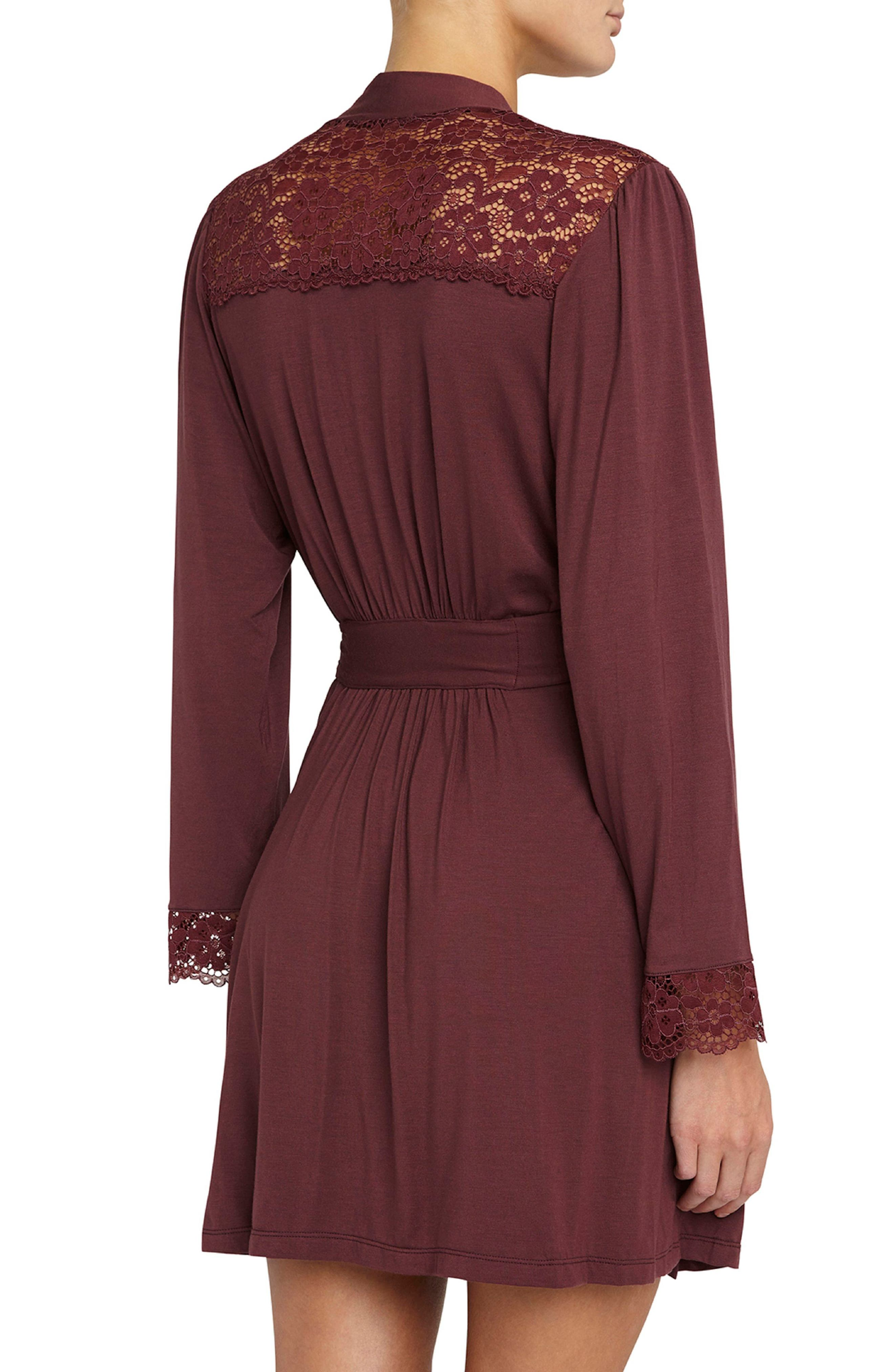 Vineland Wine Lila Short Robe,                             Alternate thumbnail 2, color,                             Vineyard Wine