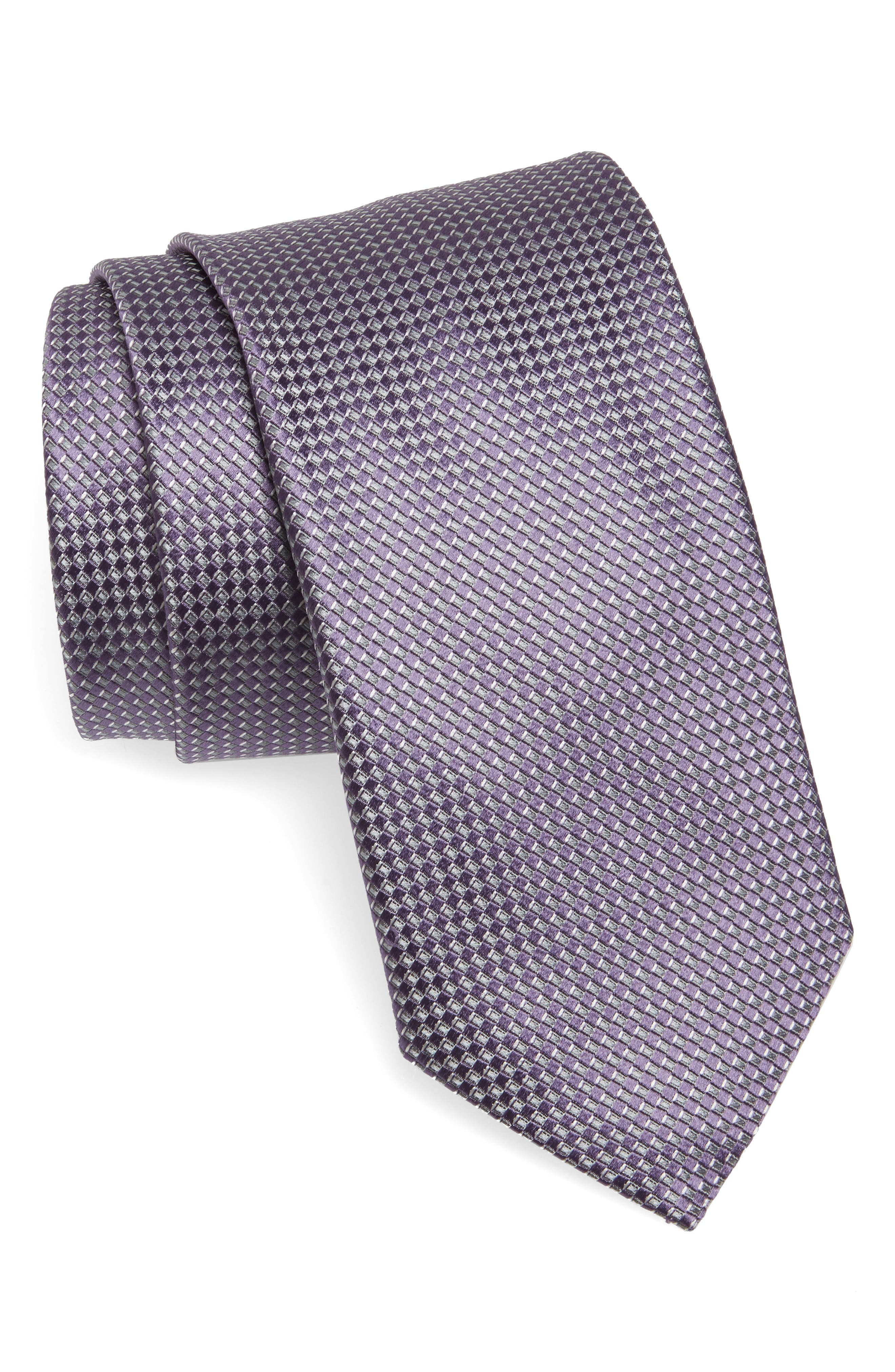 Alternate Image 1 Selected - Canali Grid Silk Tie