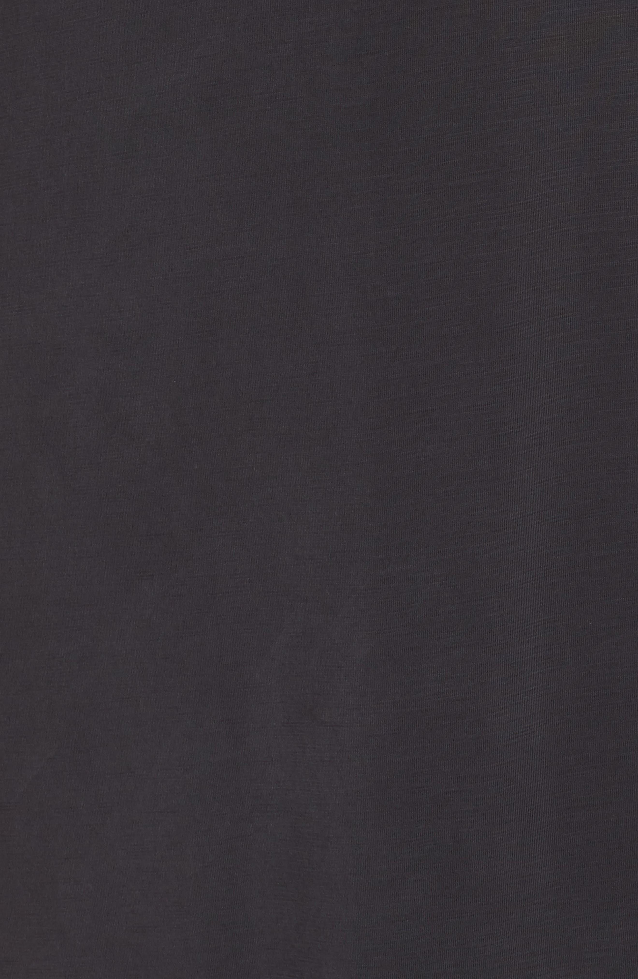 Boardwalk Jersey High/Low Dress,                             Alternate thumbnail 5, color,                             Washed Black