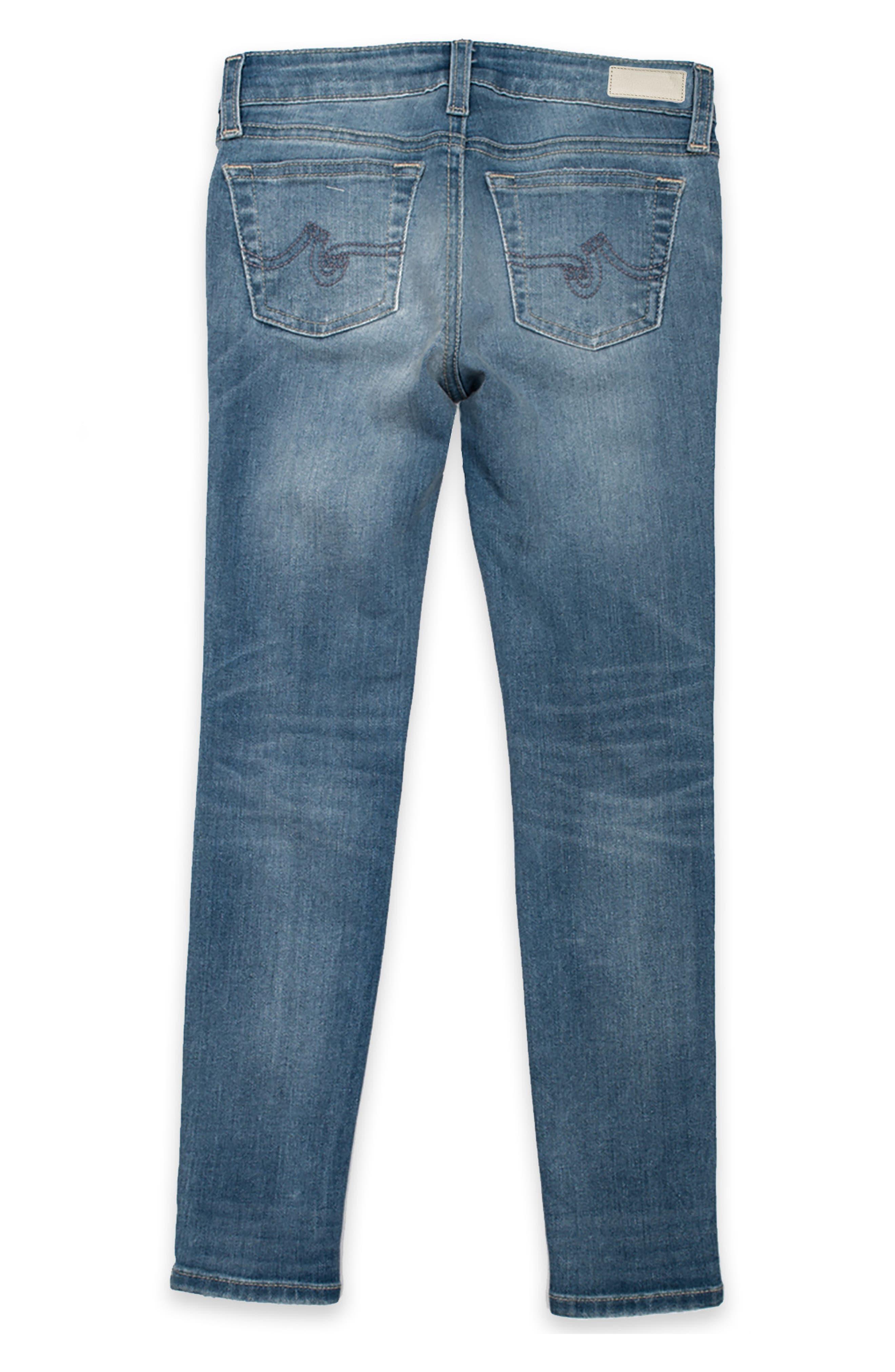 Alternate Image 2  - ag adriano goldschmied kids Twiggy Skinny Ankle Jeans (Big Girls)