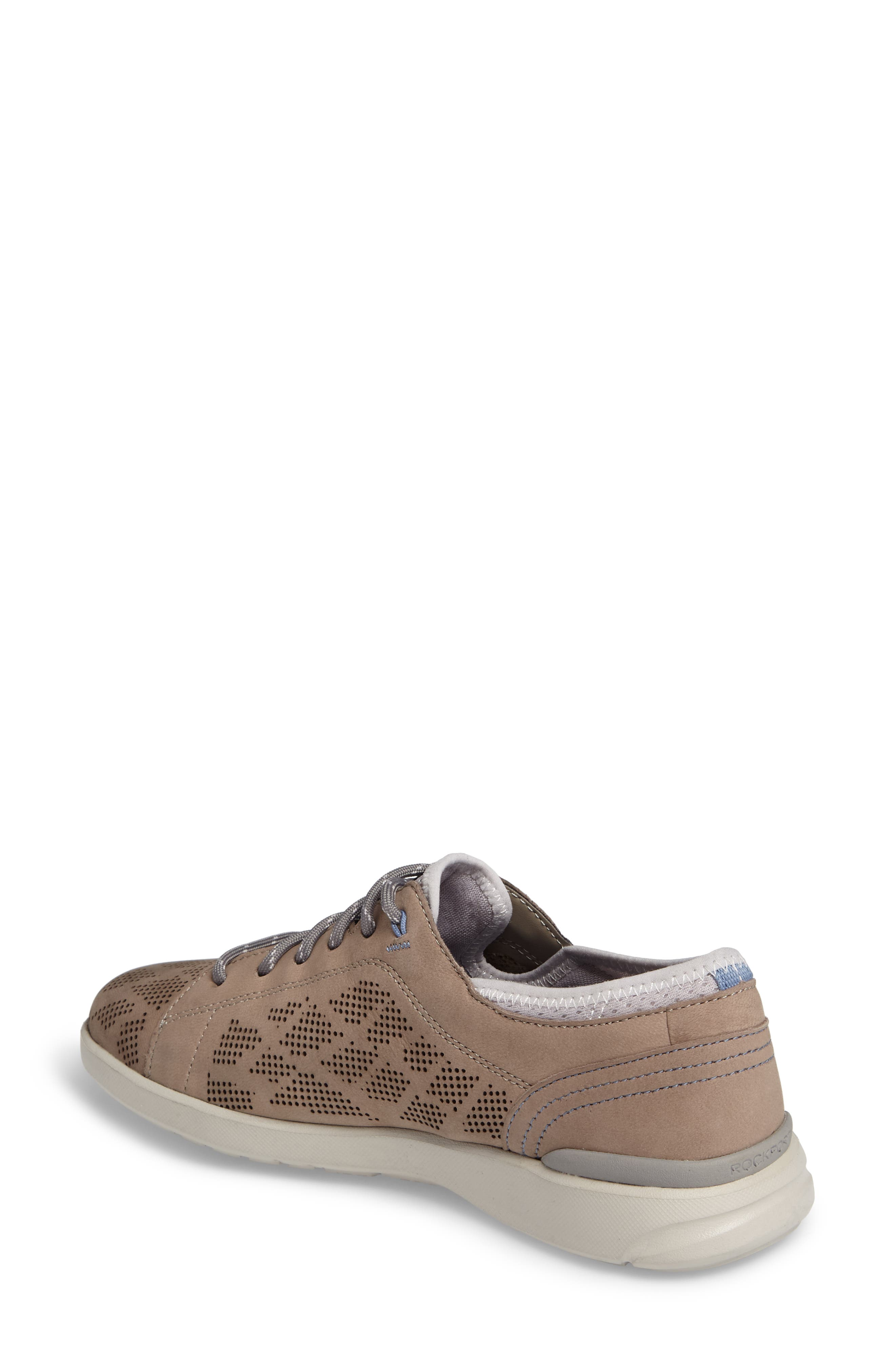 truFLEX Perforated Sneaker,                             Alternate thumbnail 2, color,                             Sand Leather