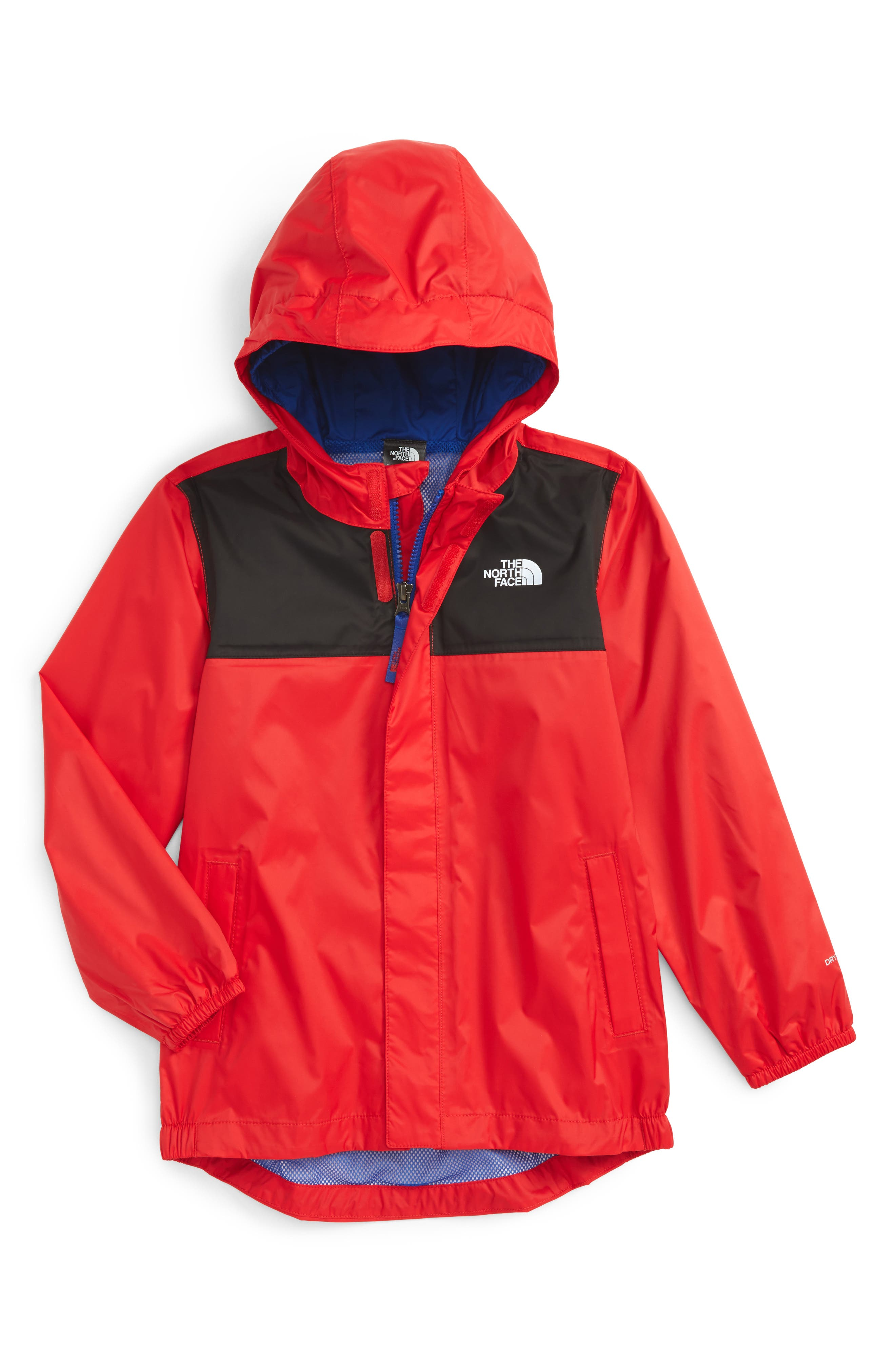 The North Face Tailout Waterproof/Windproof Hooded Rain Jacket (Toddler Boys & Little Boys)