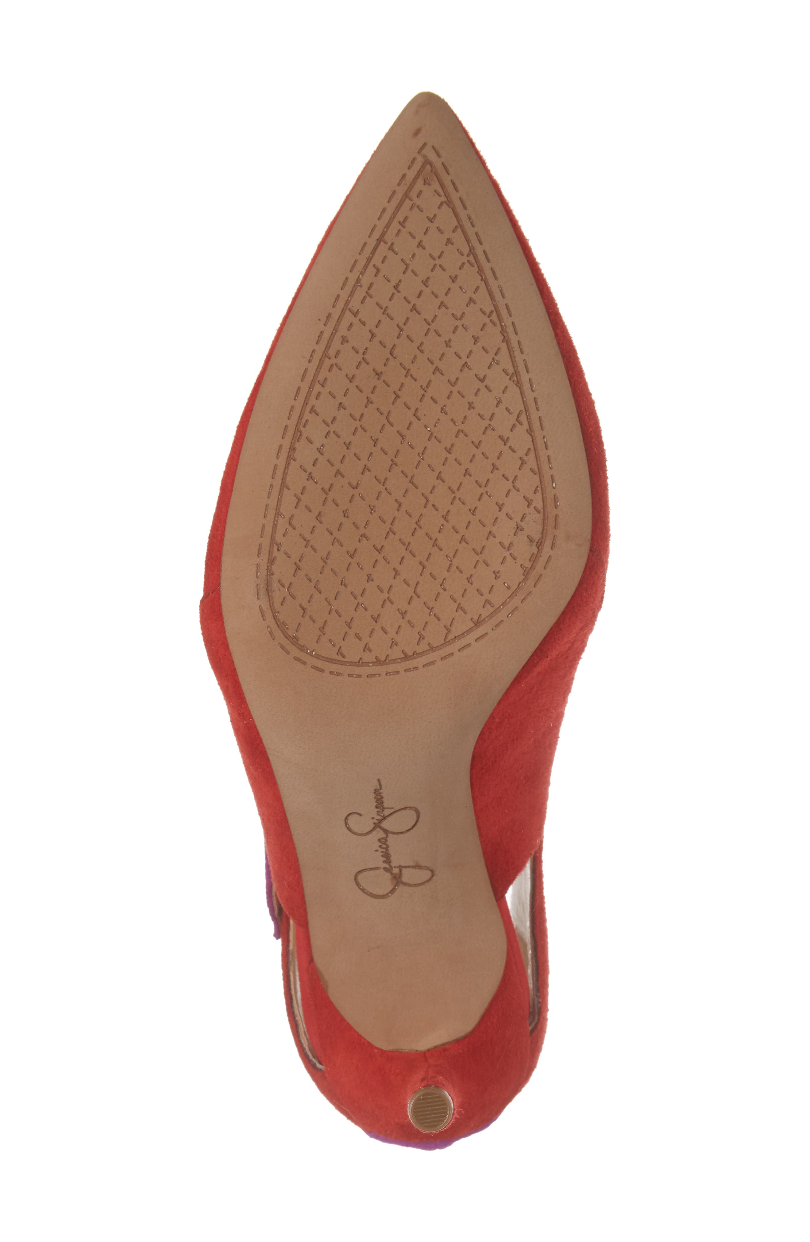 Liviana Pointy-Toe Pump,                             Alternate thumbnail 6, color,                             Red Muse Com