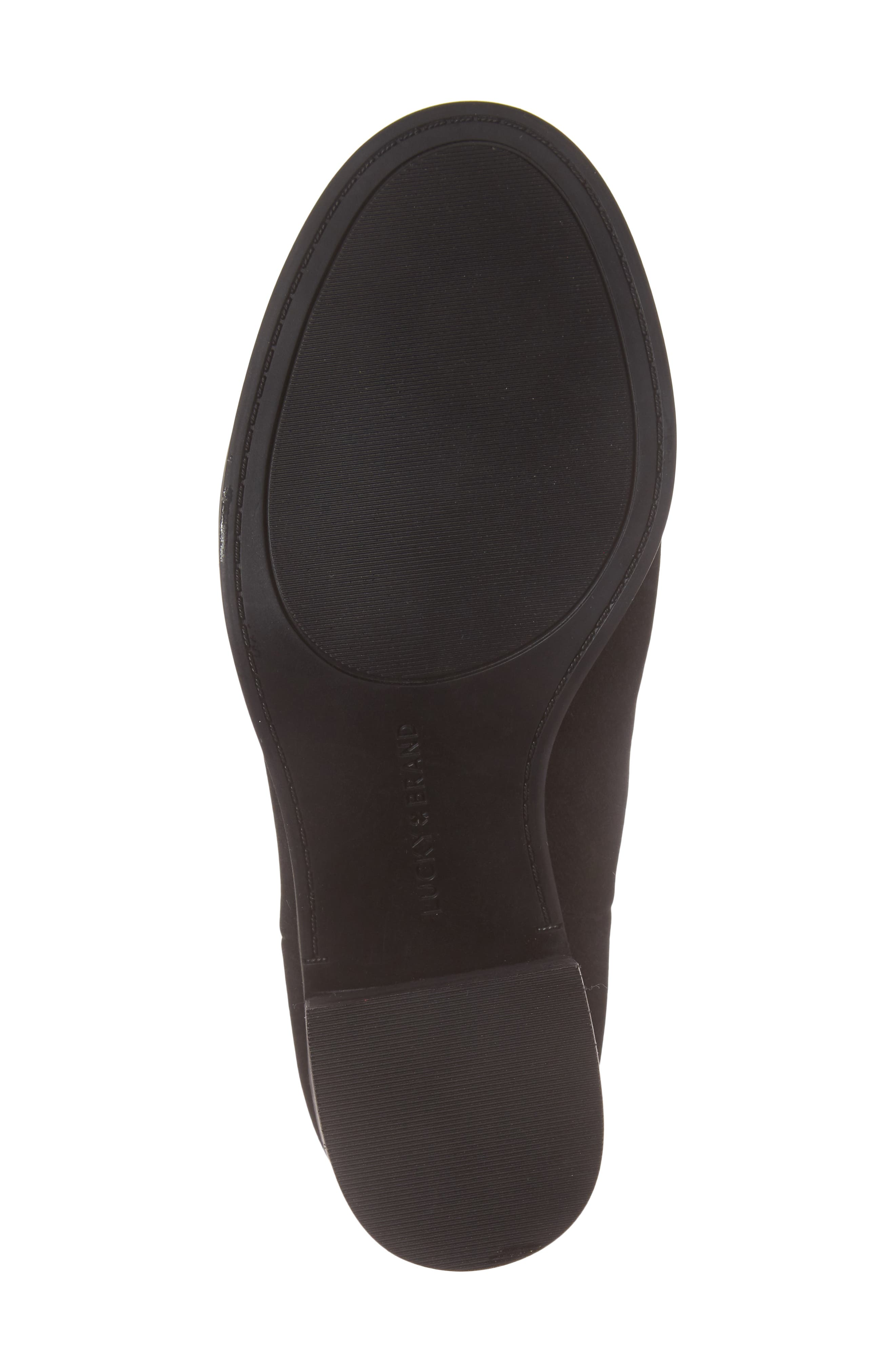 Kassidy Open Toe Chelsea Bootie,                             Alternate thumbnail 6, color,                             Black Leather