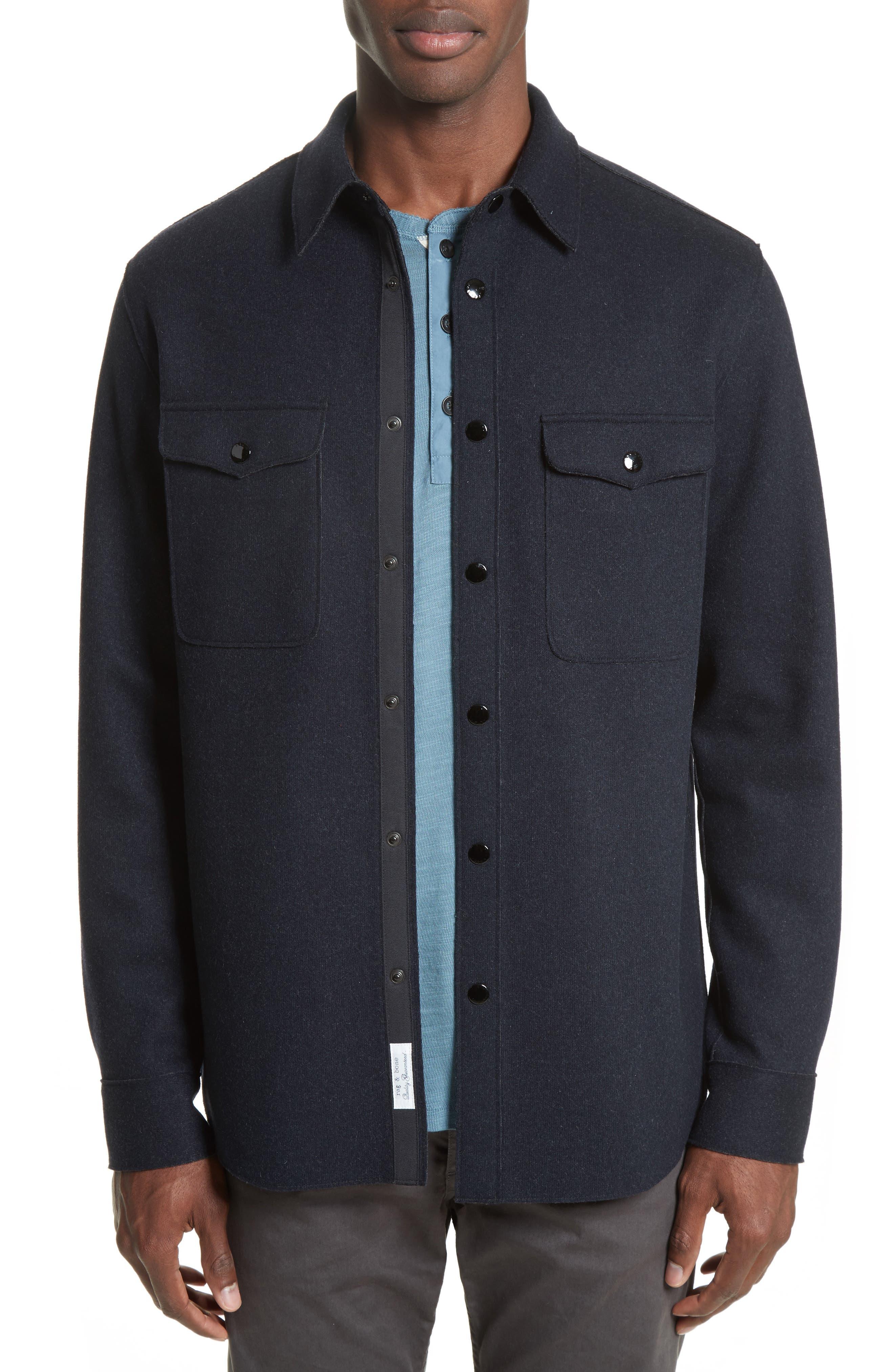 Main Image - rag & bone Raw Edge Shirt Jacket
