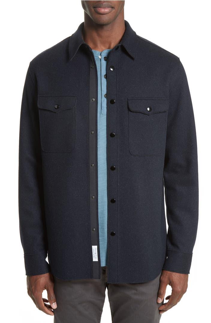 Rag bone raw edge shirt jacket nordstrom for Rag bone shirt