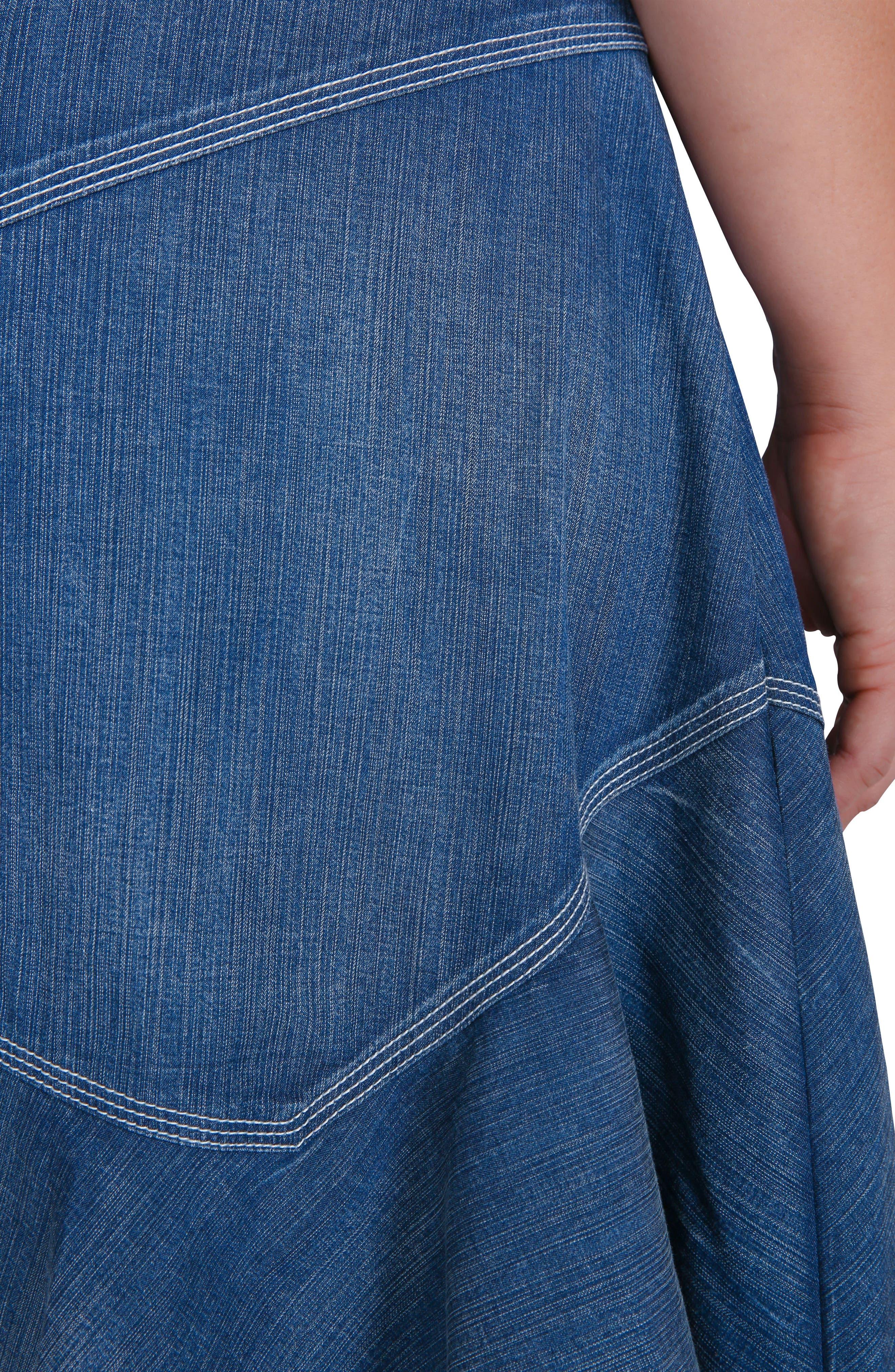 Rosie Denim Tank Dress,                             Alternate thumbnail 5, color,                             Enchanted Blue