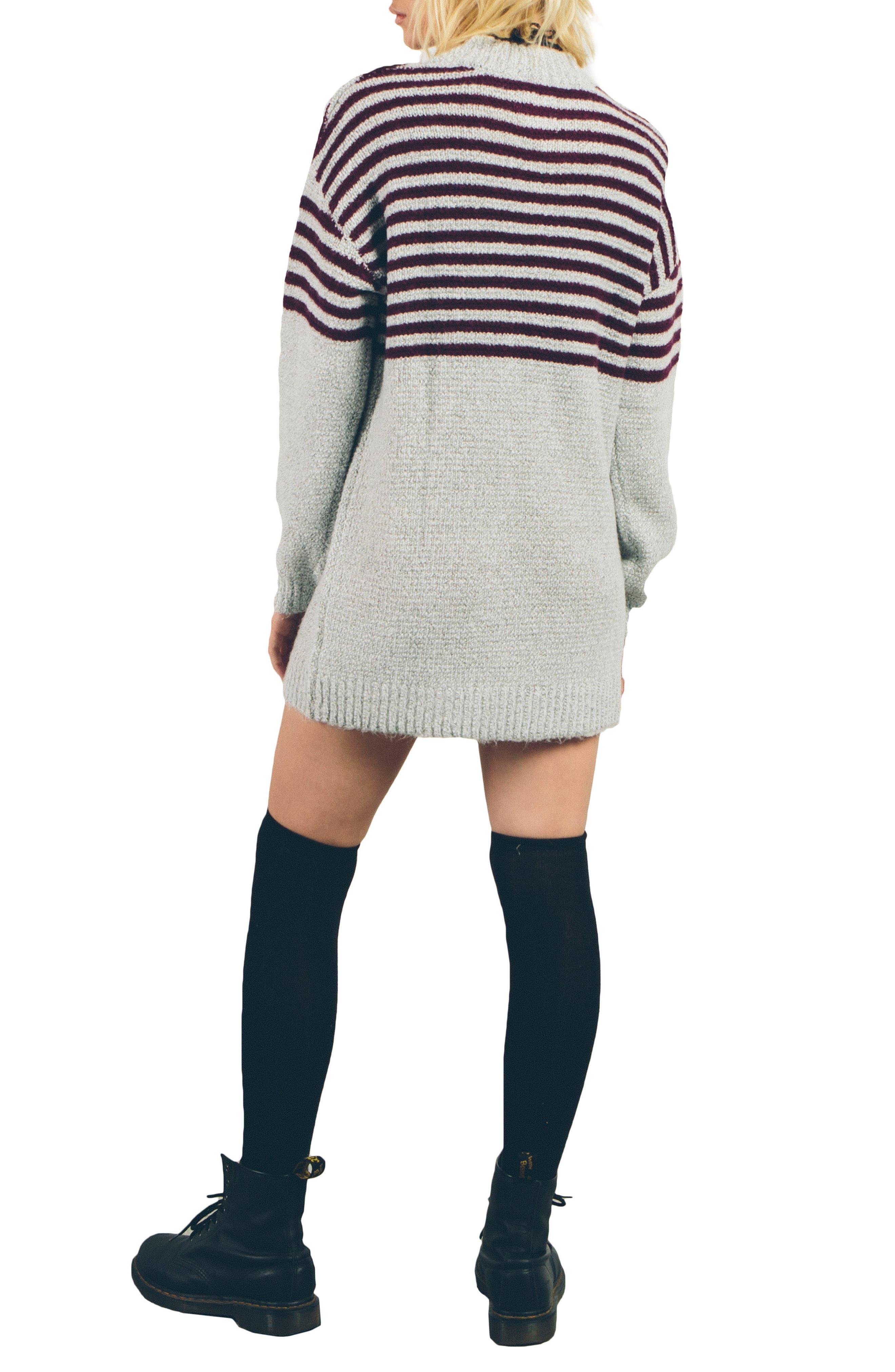 Cold Daze Knit Dress,                             Alternate thumbnail 2, color,                             Heather Grey