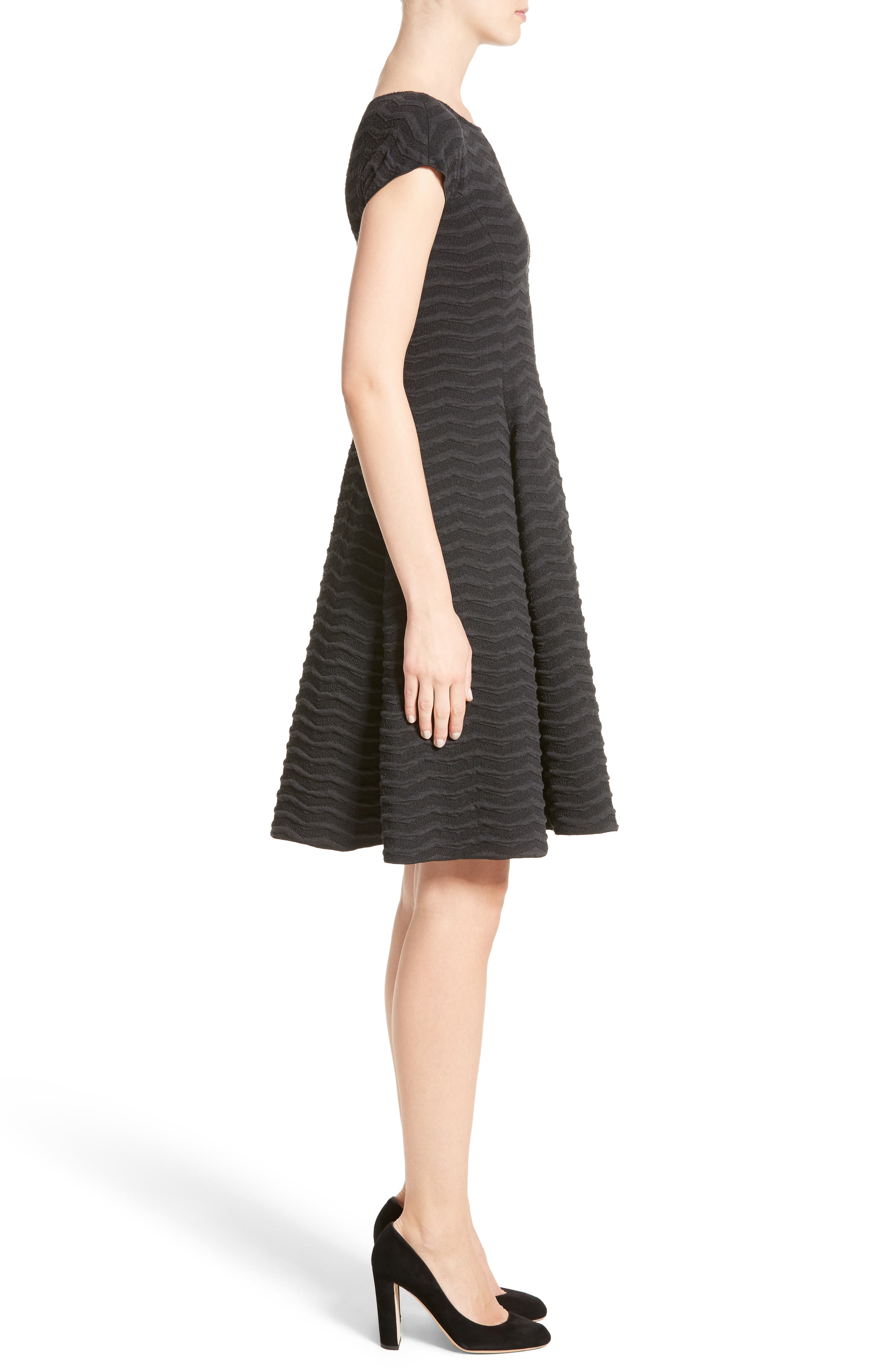 Alternate Image 5  - Armani Collezioni Embossed Jacquard Jersey A-Line Dress