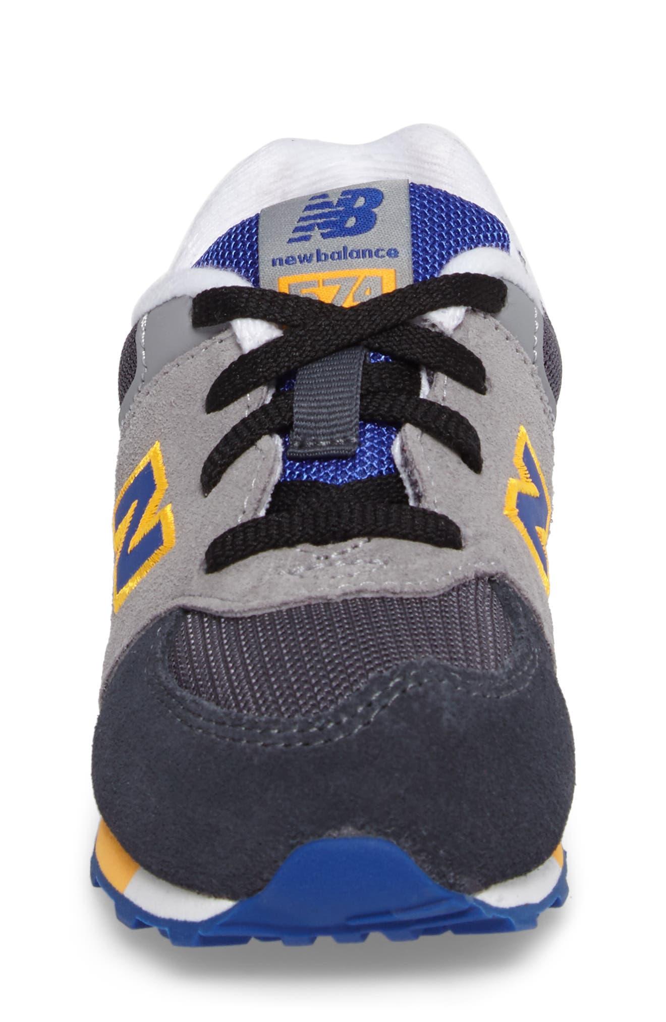 Alternate Image 4  - New Balance 574 Cut & Paste Sneaker (Baby, Walker & Toddler)
