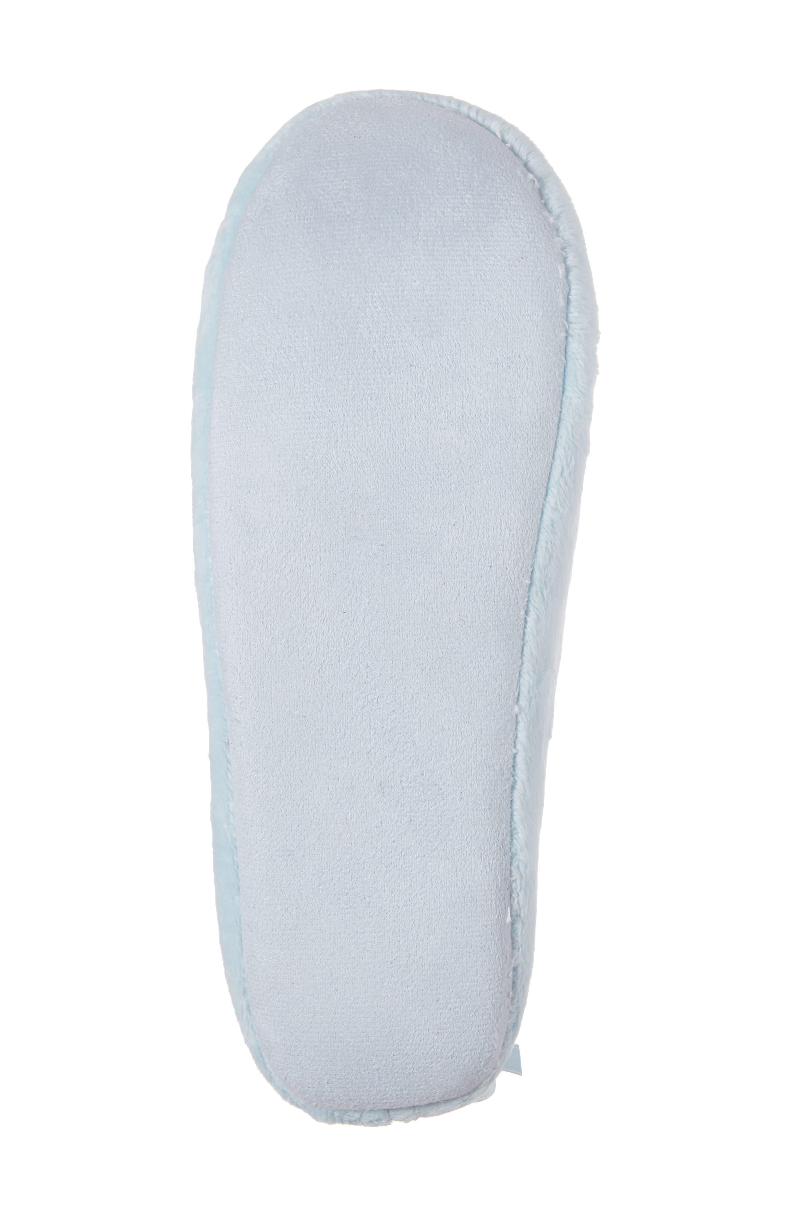 Plush Pompom Slipper,                             Alternate thumbnail 6, color,                             Blue