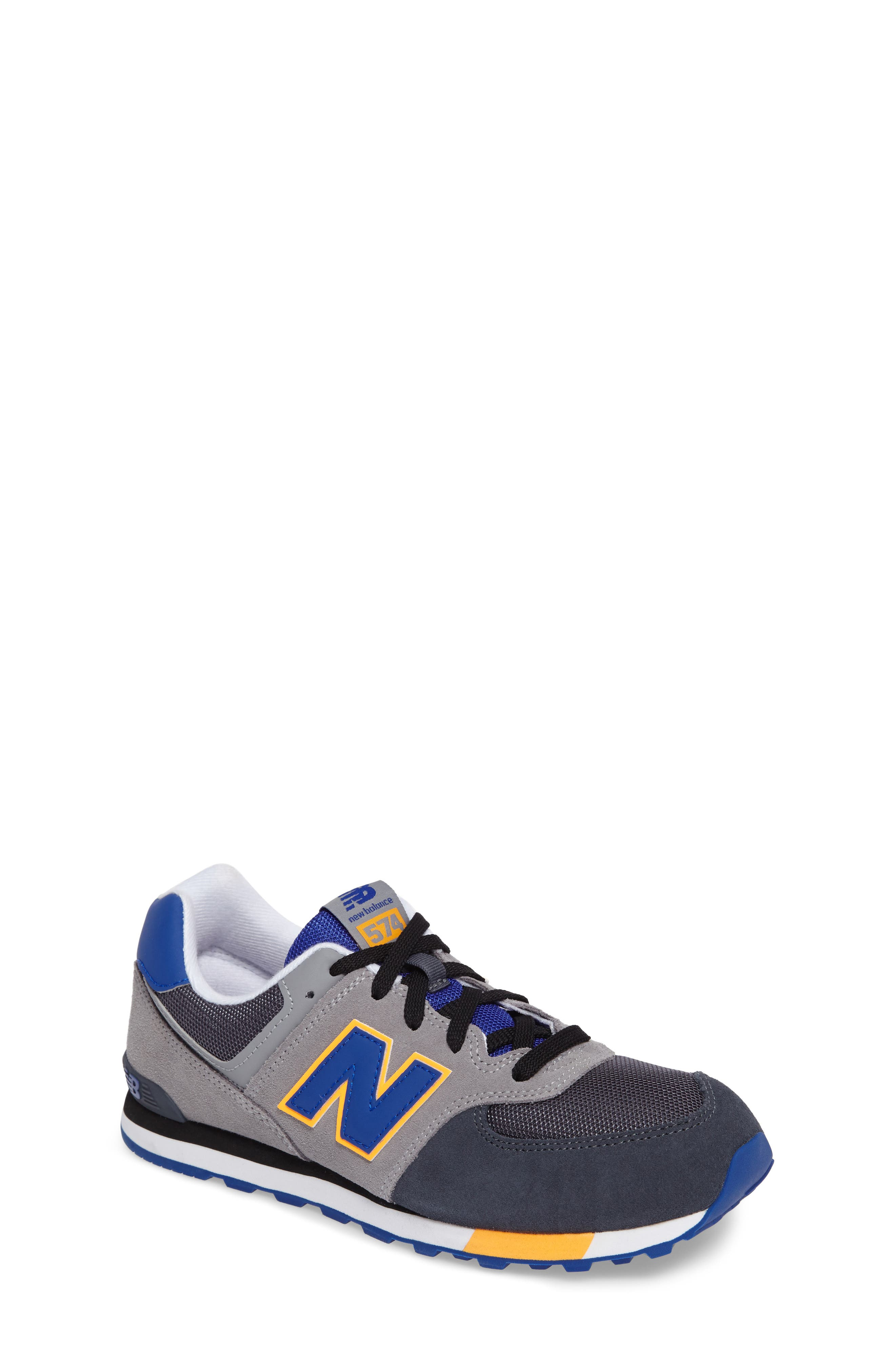 574 Cut & Paste Sneaker,                         Main,                         color, Grey/ Blue