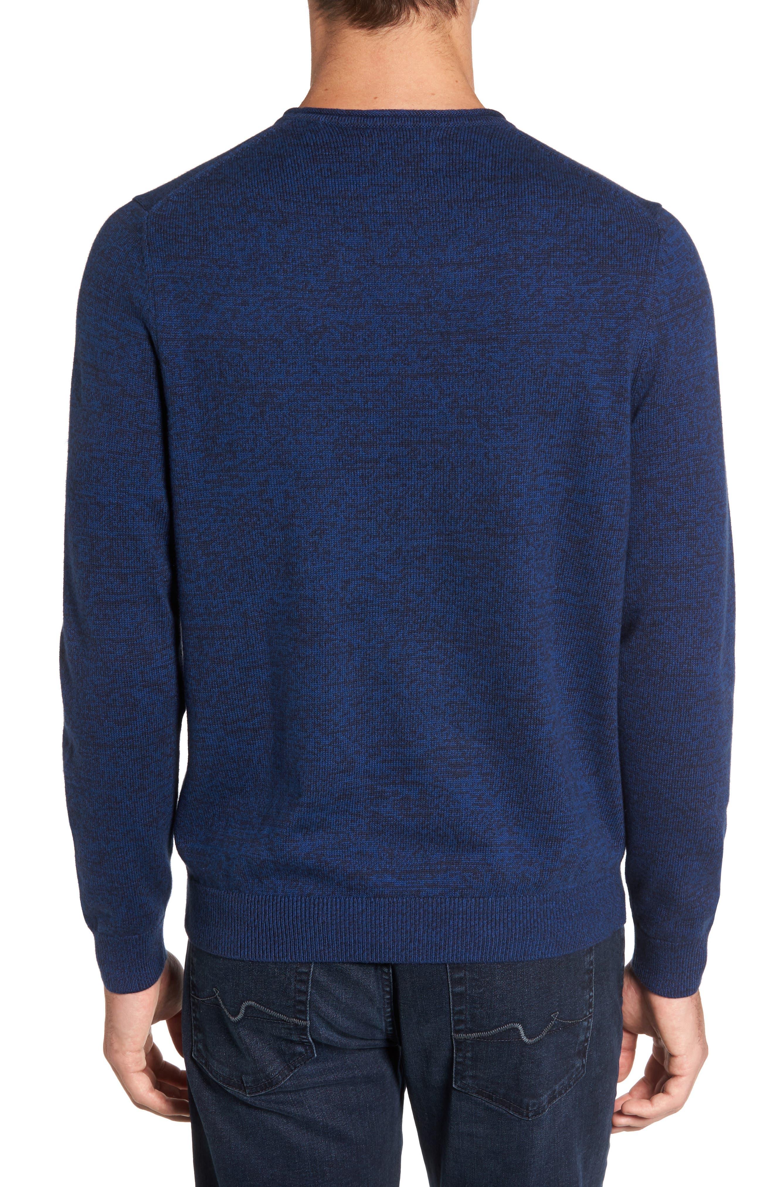 Alternate Image 2  - Nordstrom Men's Shop Cotton & Cashmere Roll Neck Sweater