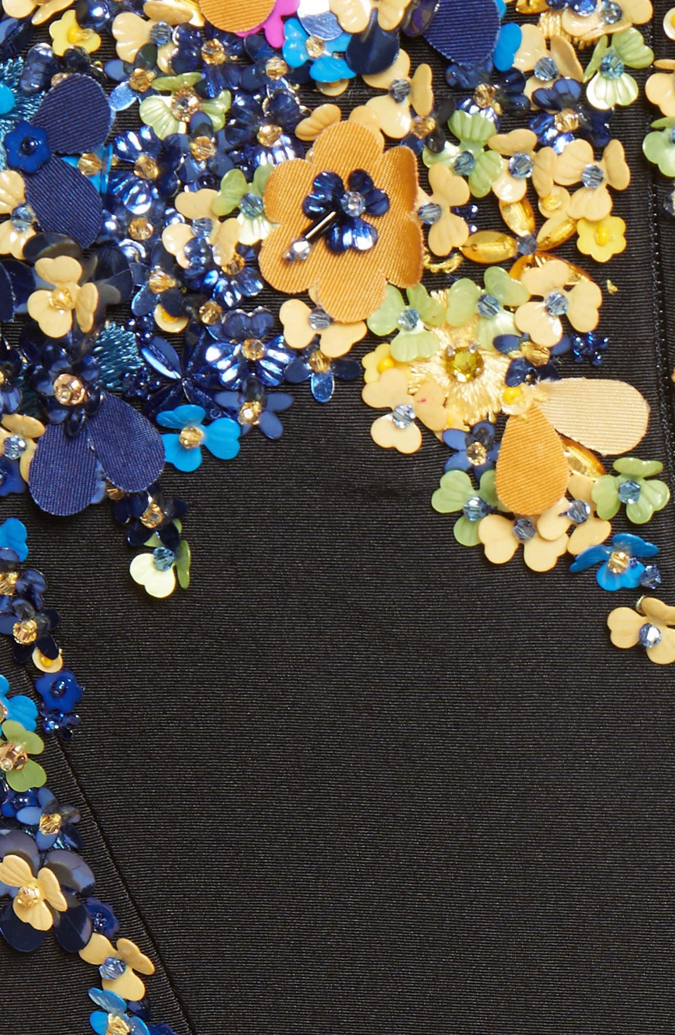 Alternate Image 5  - Oscar de la Renta Tendrils Floral Embroidered Silk Faille Top