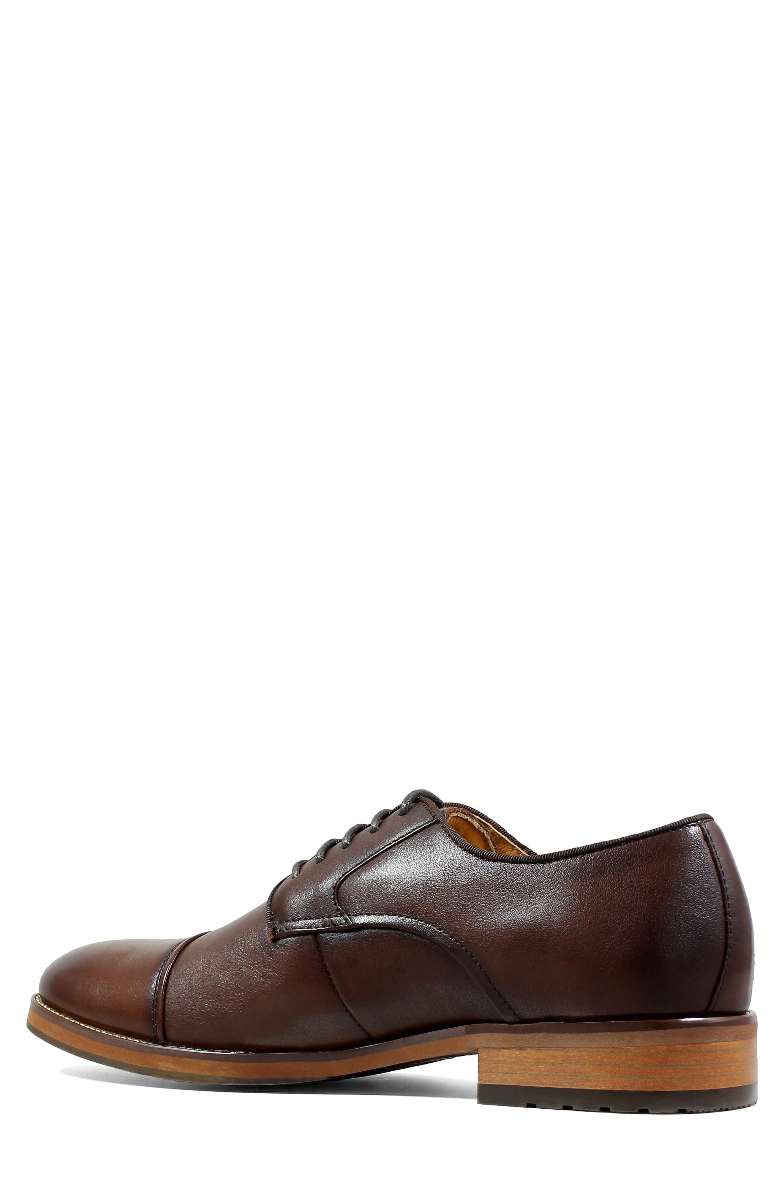 Blaze Cap Toe Derby,                             Alternate thumbnail 2, color,                             Cognac Leather