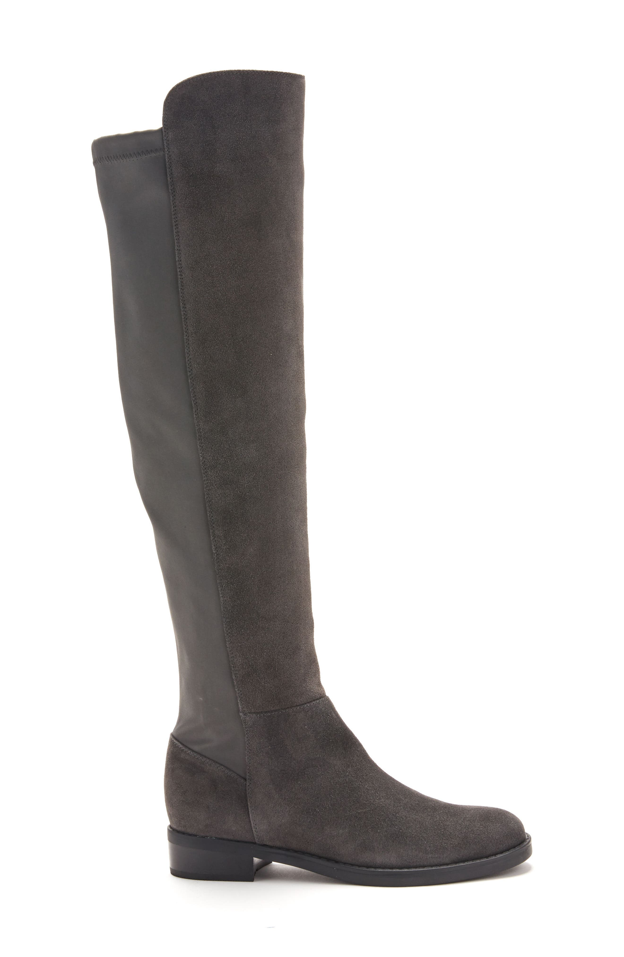 Olivia Knee High Boot,                             Alternate thumbnail 3, color,                             Grey Suede