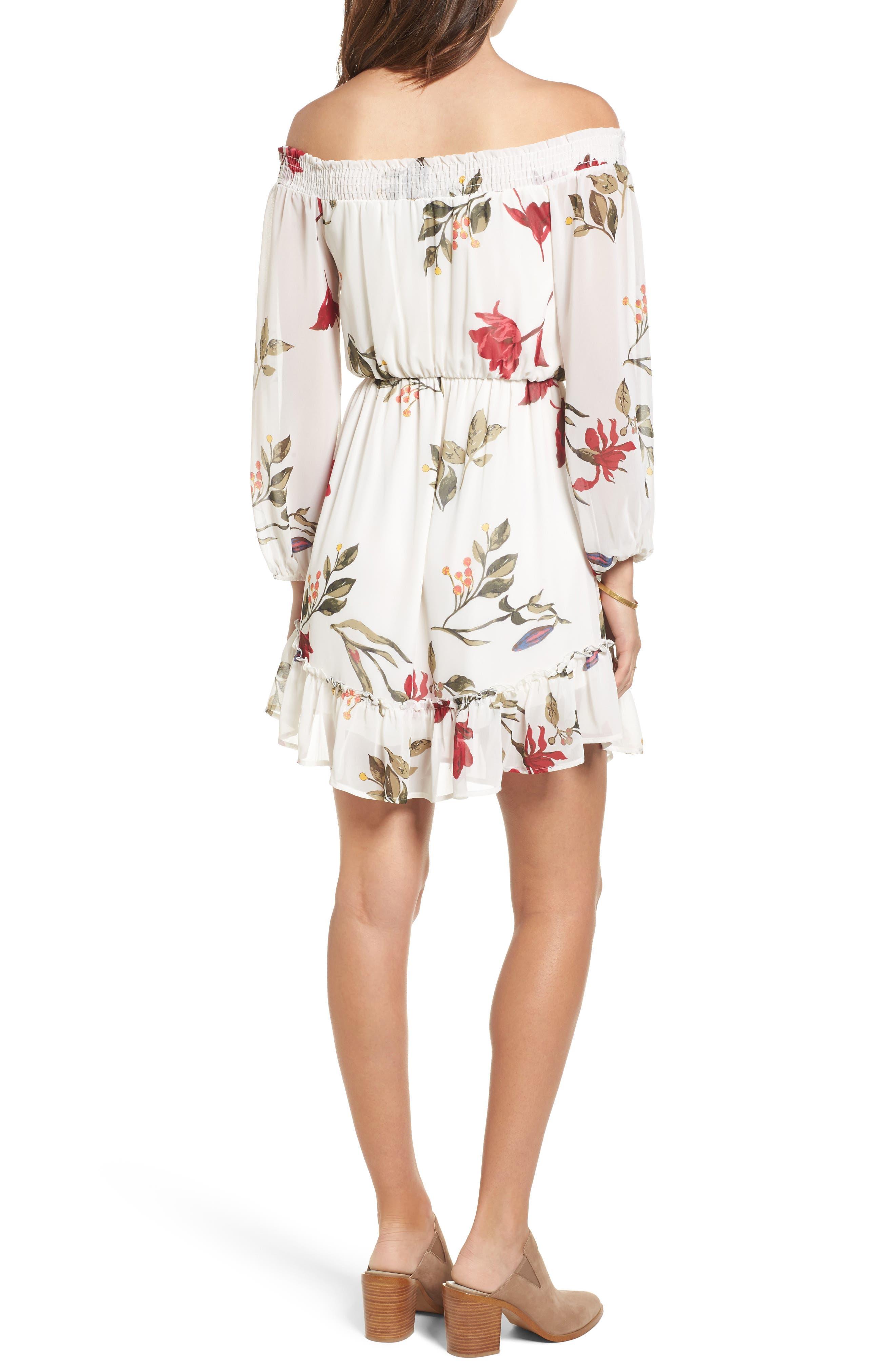 Alternate Image 2  - Dee Elly Floral Off the Shoulder Dress