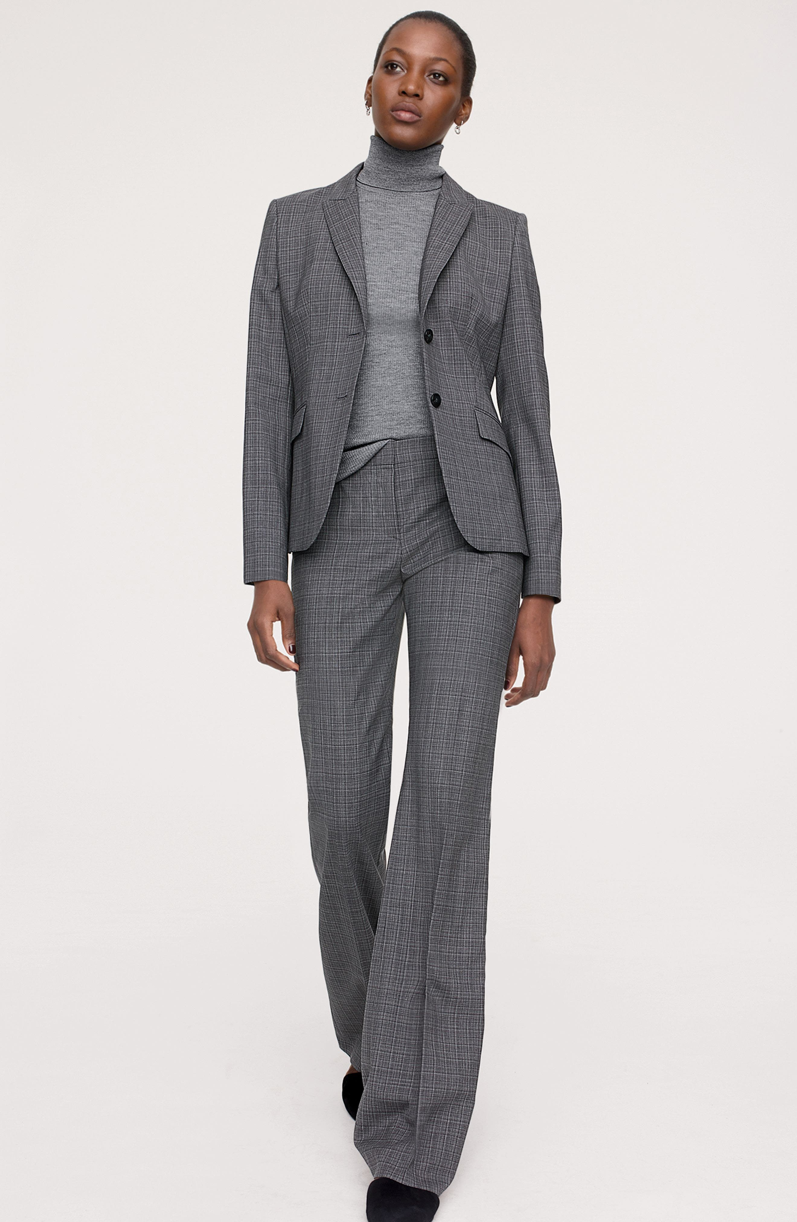 BOSS Stretch Wool Blazer & Trousers Outfit with Accessories