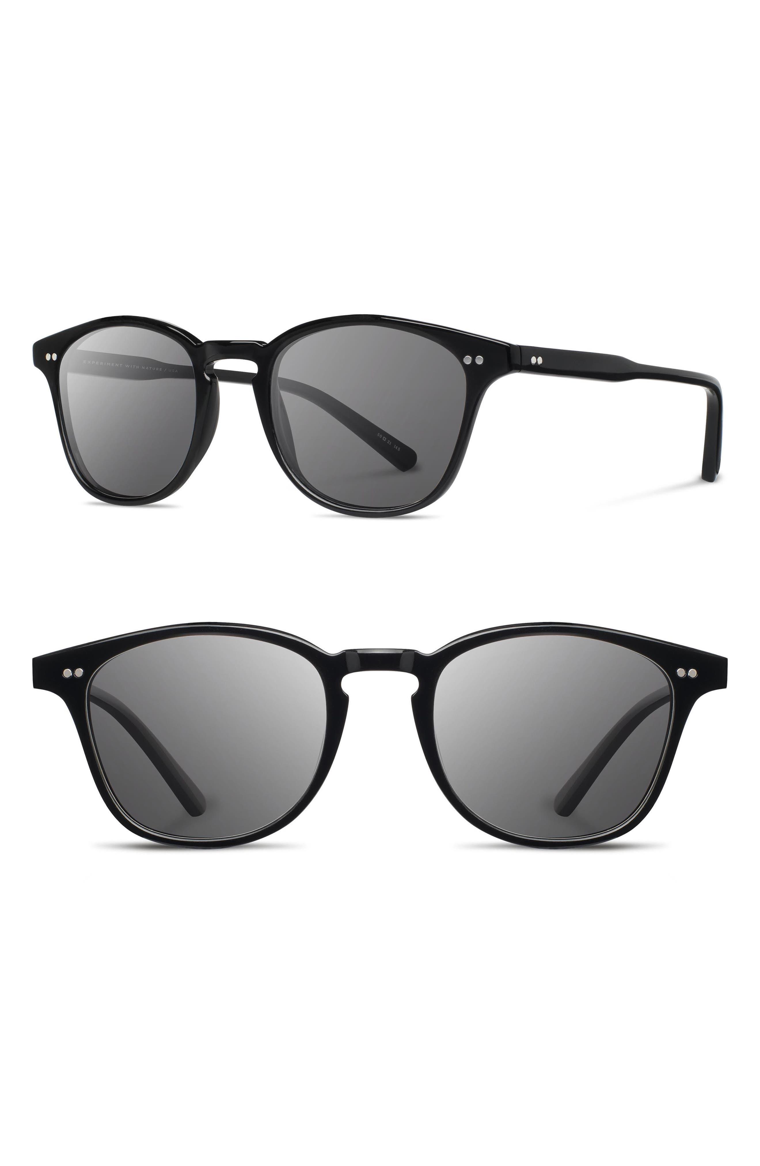 Kennedy 50mm Polarized Sunglasses,                         Main,                         color, Black/ Grey Polarized