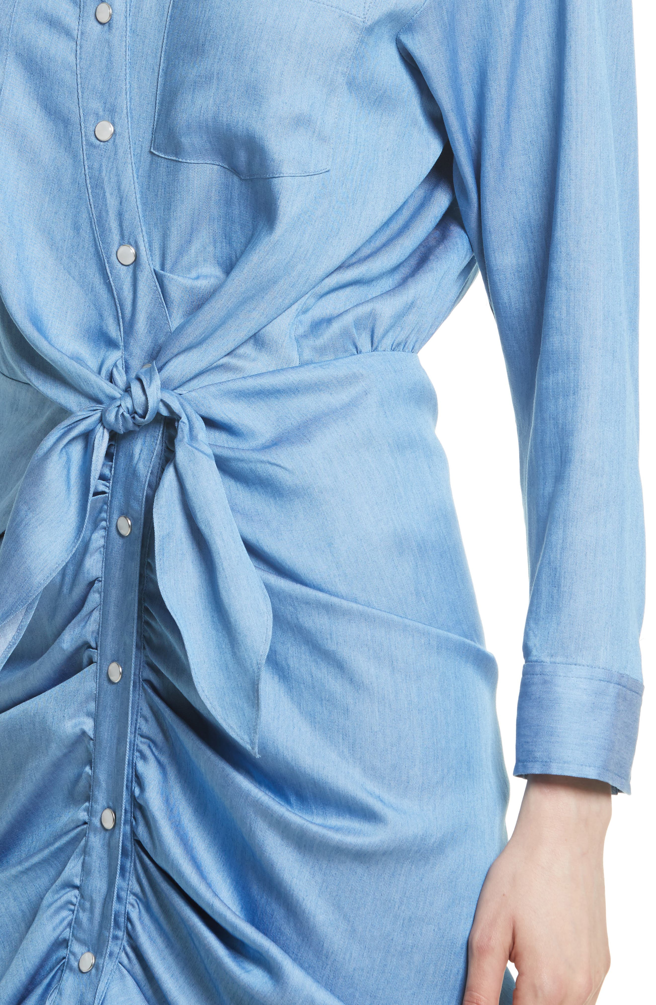 Alternate Image 4  - Veronica Beard Sierra Ruched Shirtdress