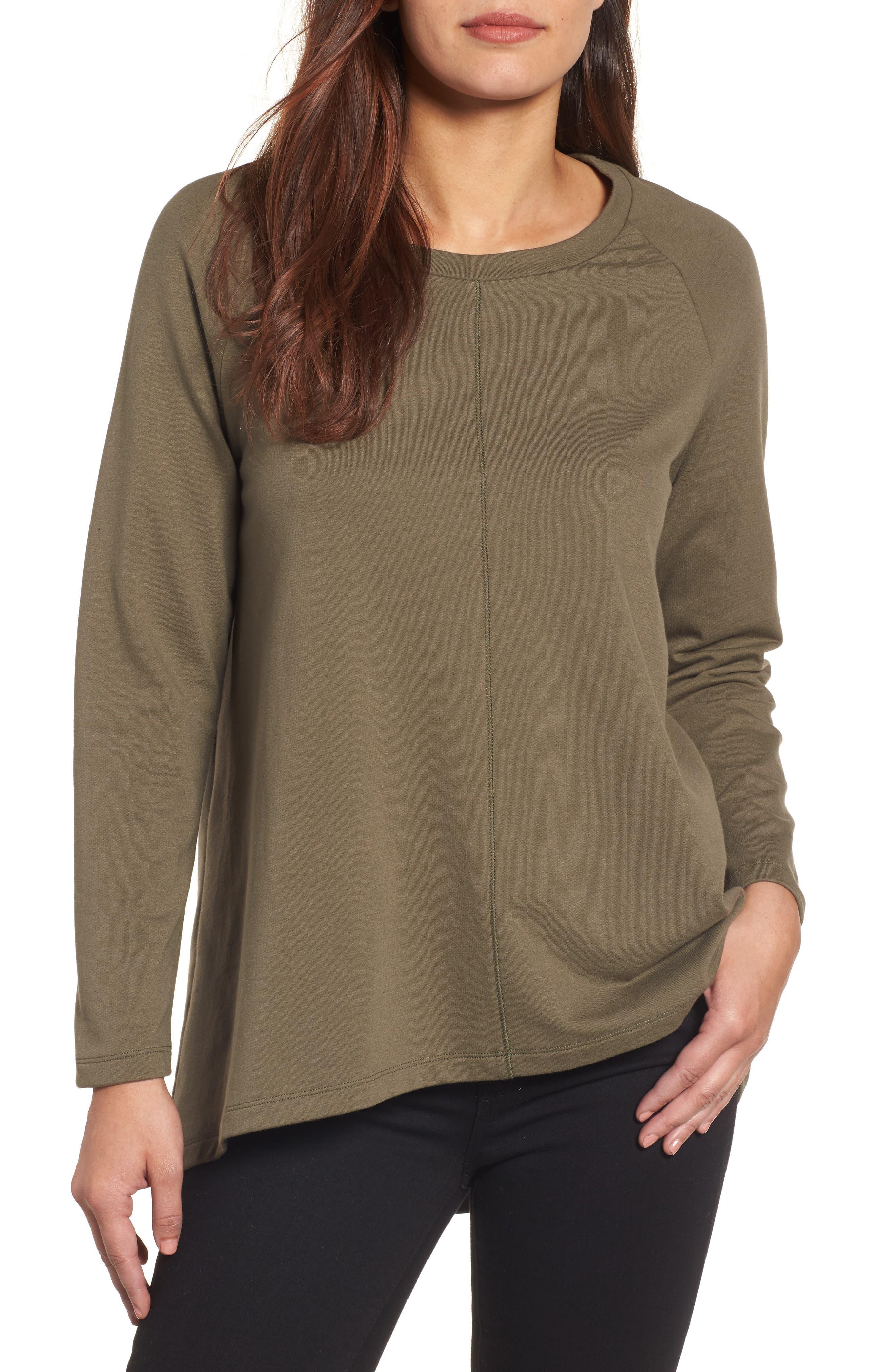 Caslon® A-Line Sweatshirt (Regular & Petite)