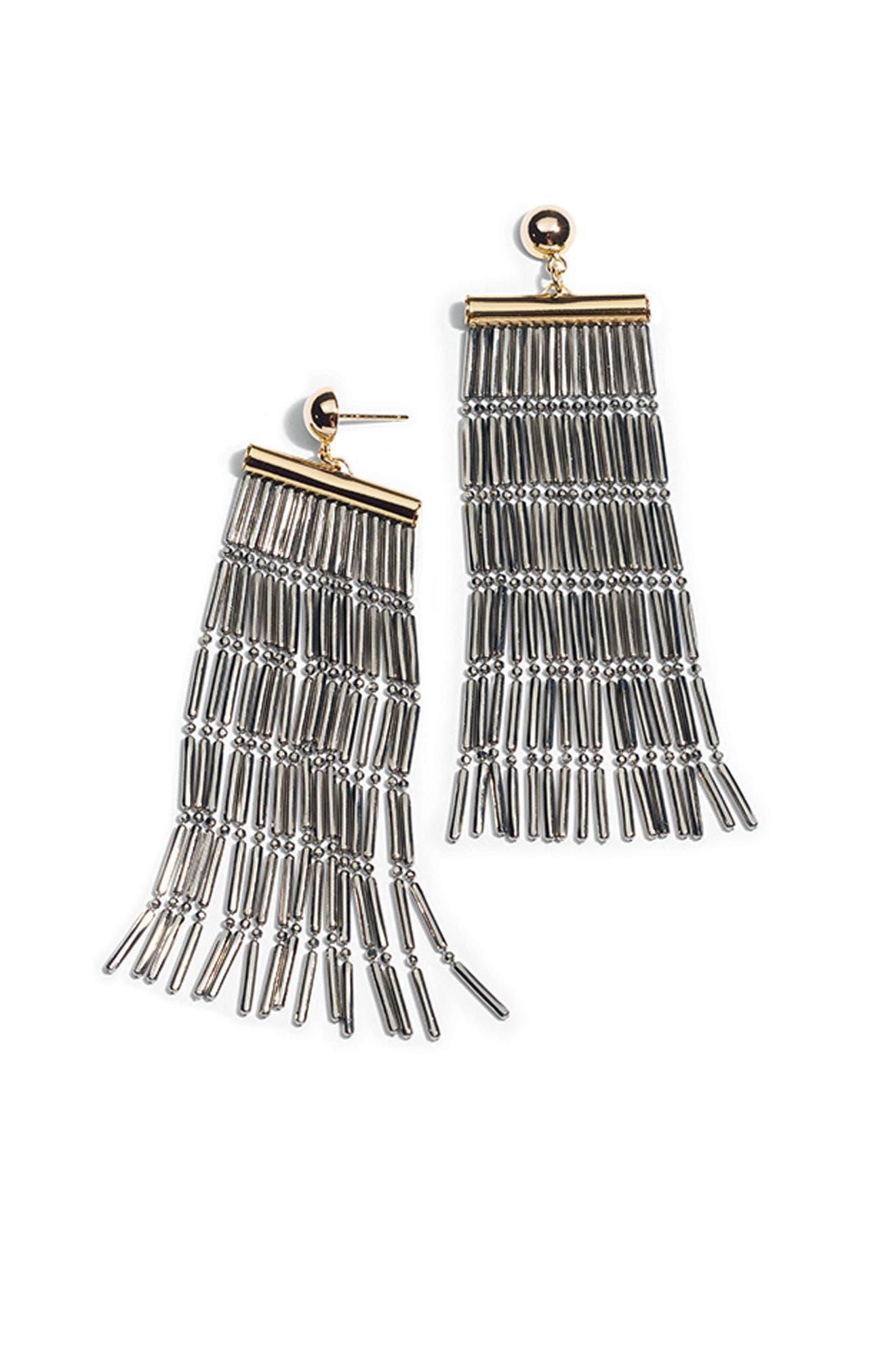 Alternate Image 3  - Argento Vivo Two-Tone Linear Fringe Earrings
