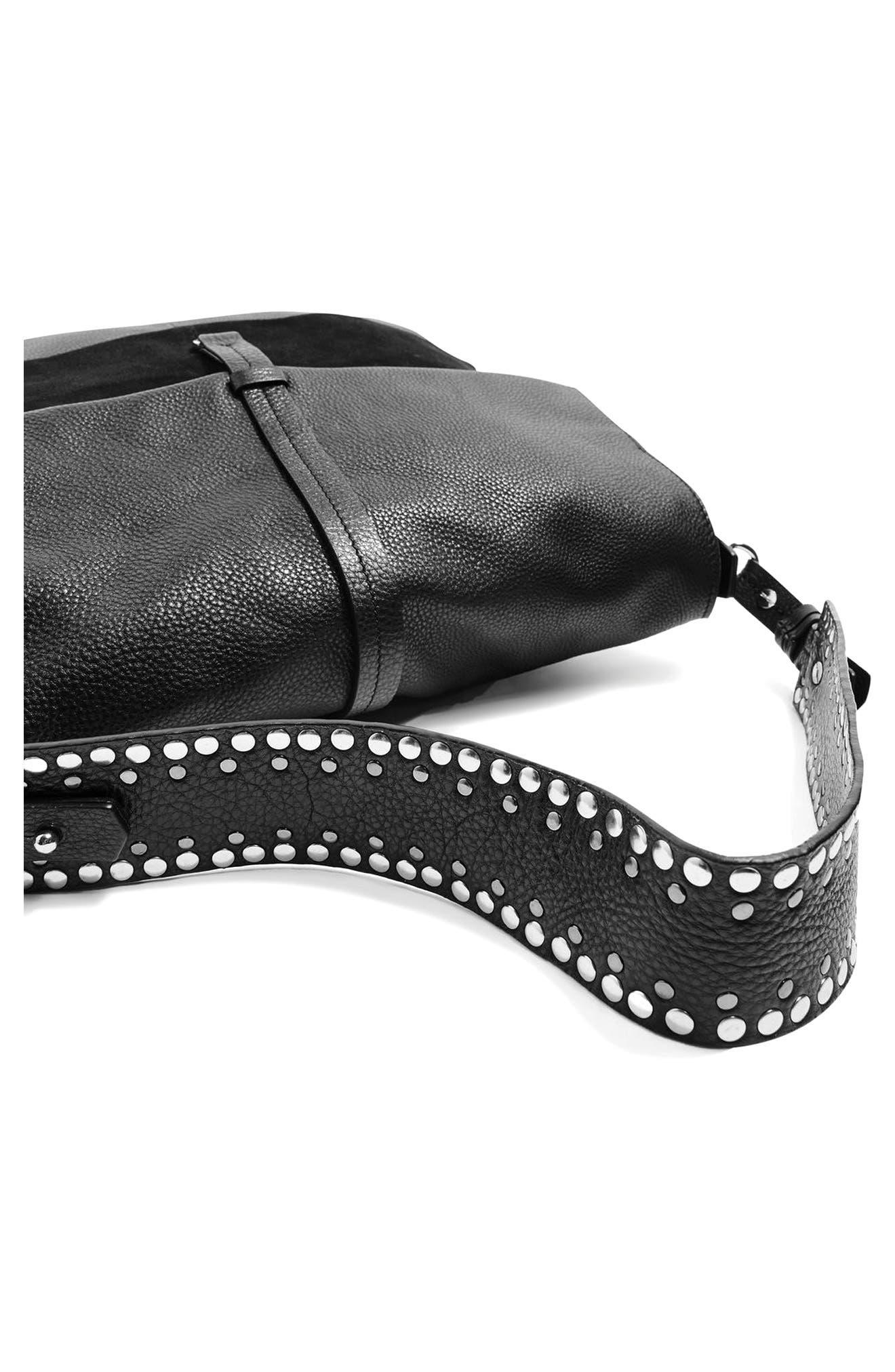 Alternate Image 5  - Topshop Premium Leather Hobo Bag