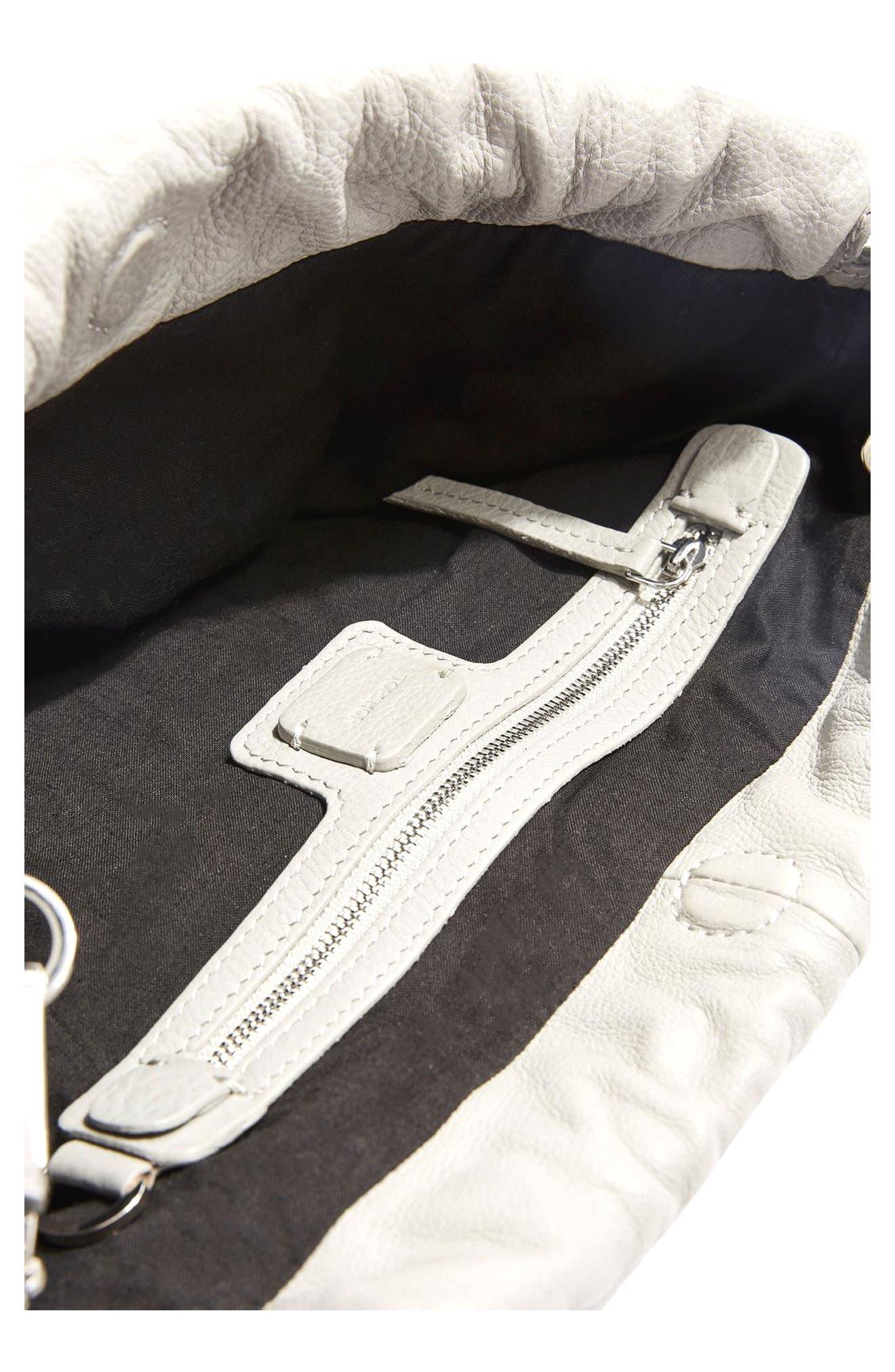Alternate Image 4  - Topshop Premium Leather Drawstring Crossbody Bag