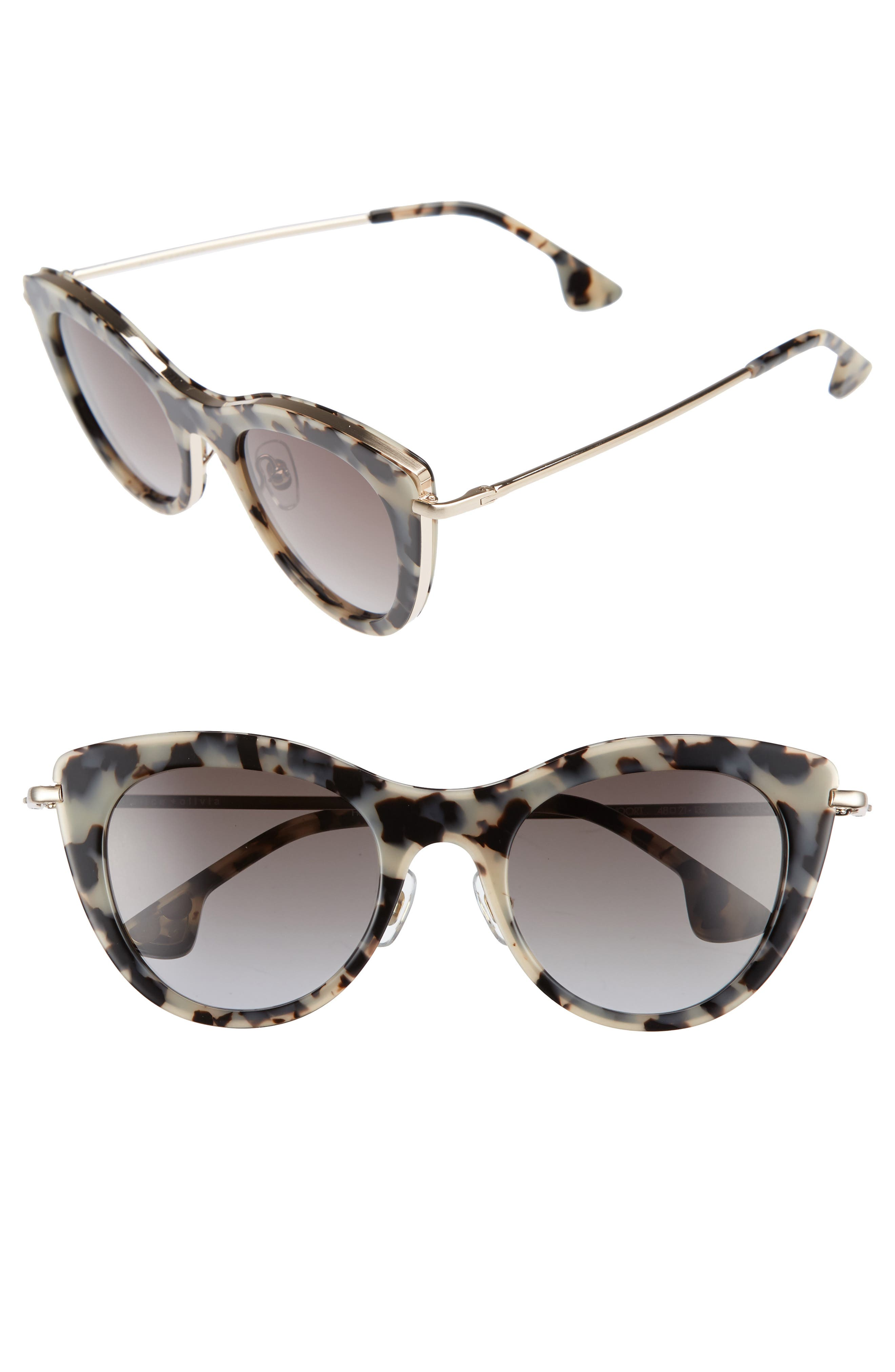 Alice + Olivia Gansevoort 48mm Special Fit Cat Eye Sunglasses