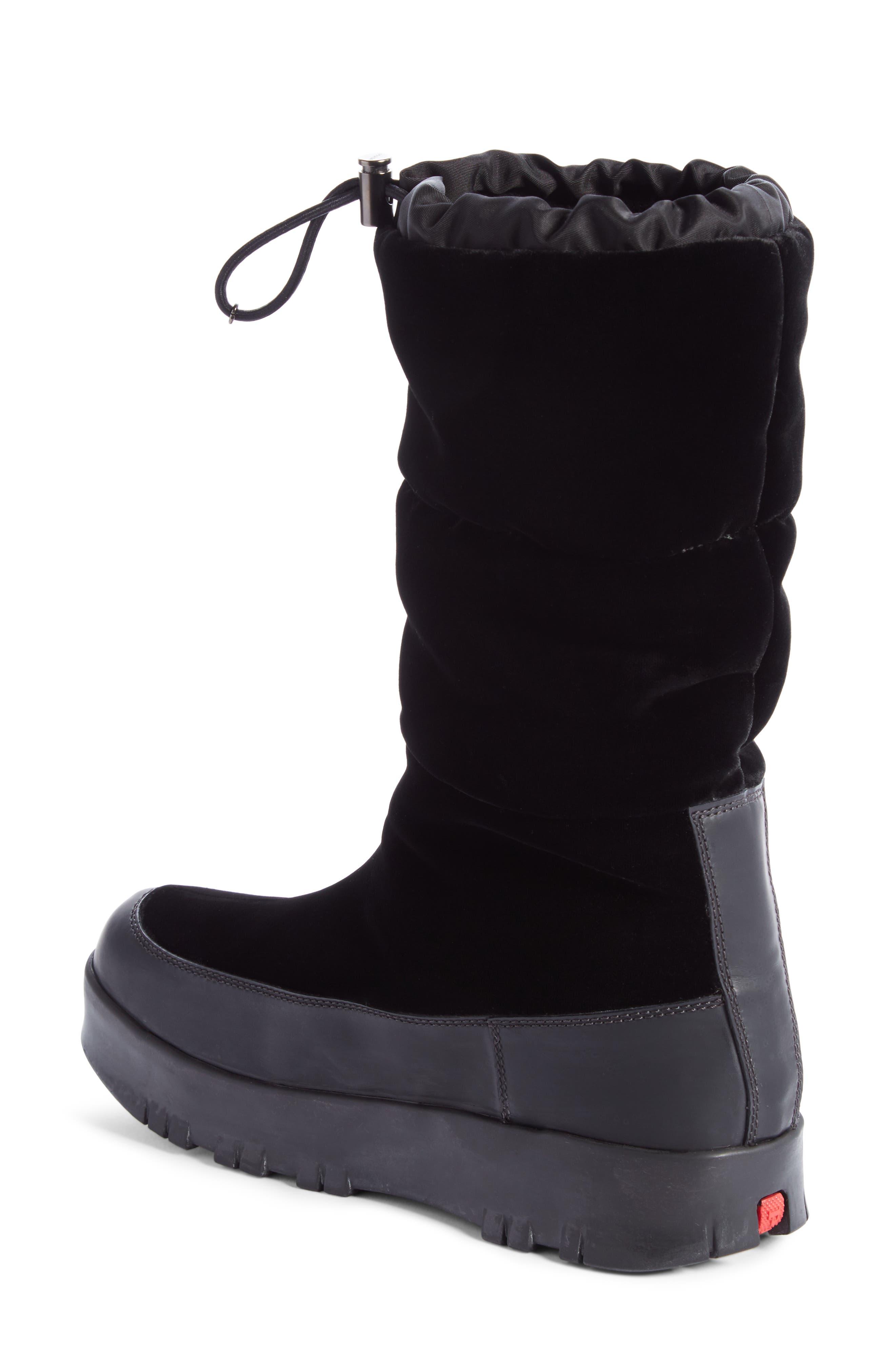 Logo Flatform Snow Boot,                             Alternate thumbnail 2, color,                             Black
