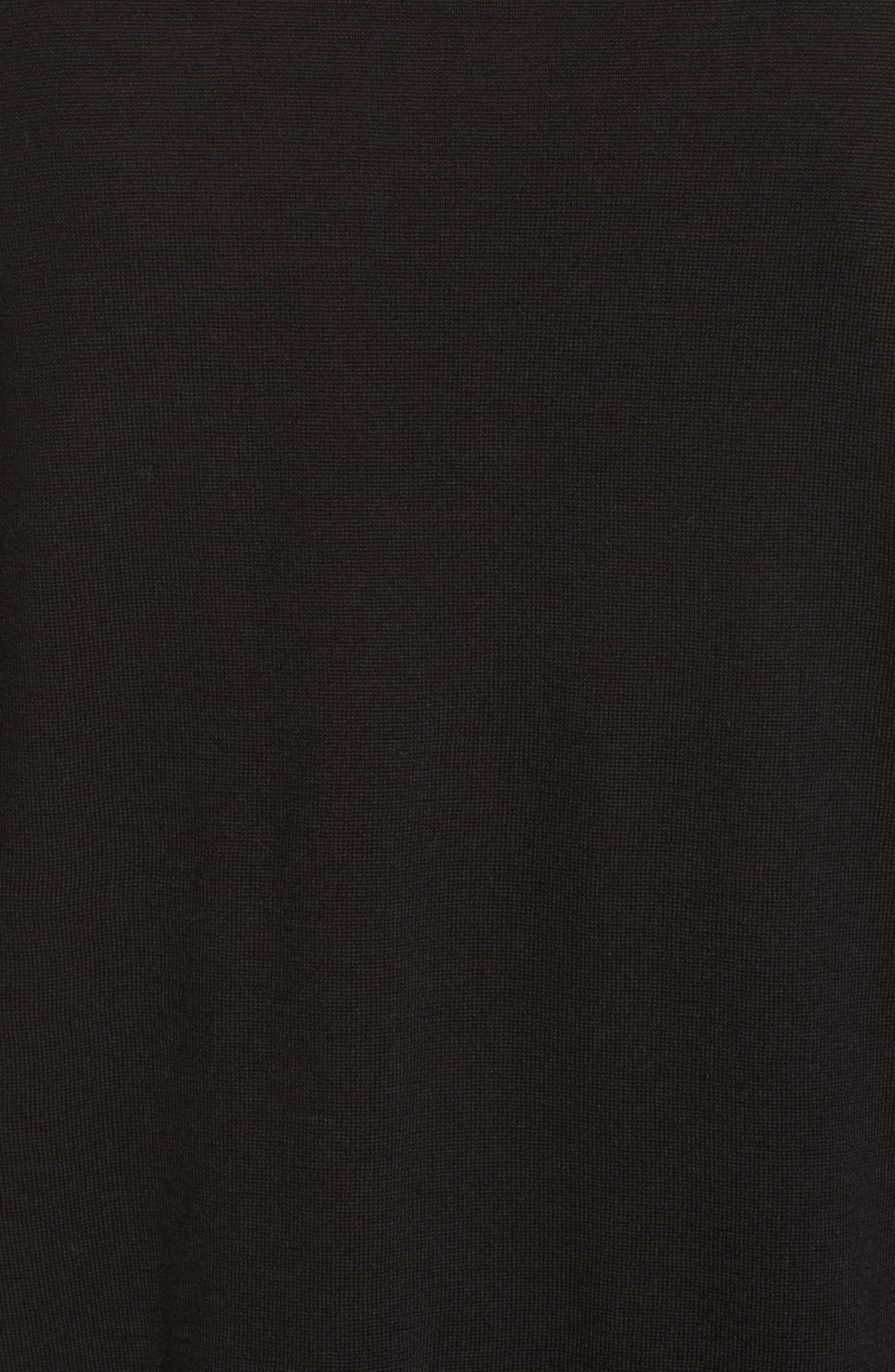 Asymmetrical Cowl Neck Sweater,                             Alternate thumbnail 6, color,                             Black