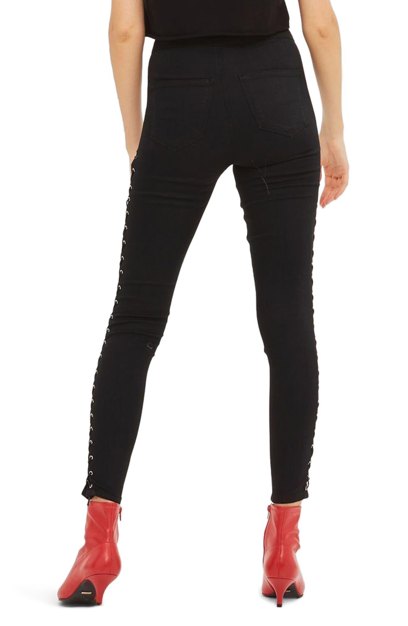 Alternate Image 3  - Topshop Joni Side Lace-Up Ankle Skinny Jeans