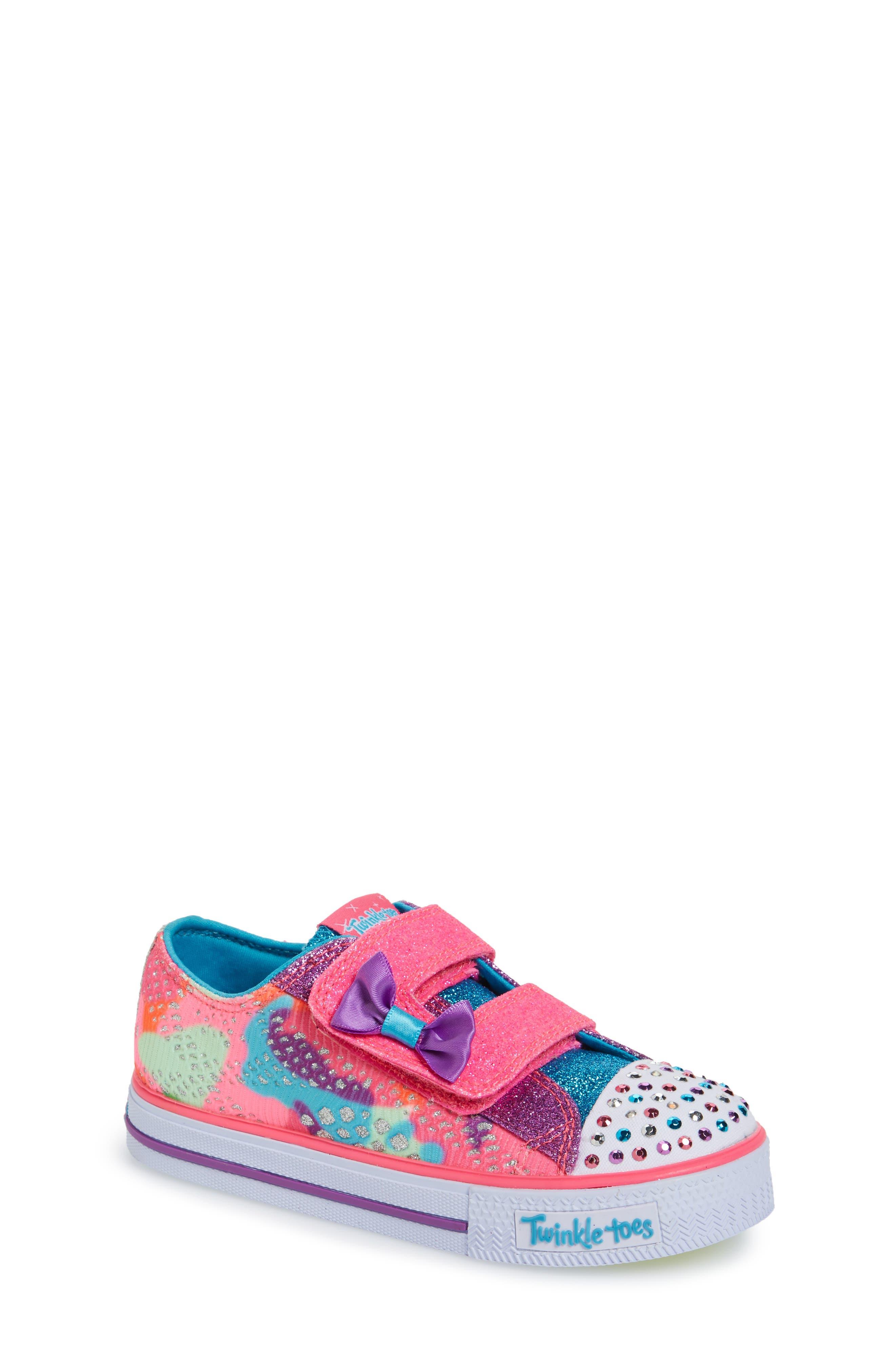 Main Image - SKECHERS Twinkle Toes Shuffles Light-Up Sneaker (Walker & Toddler)