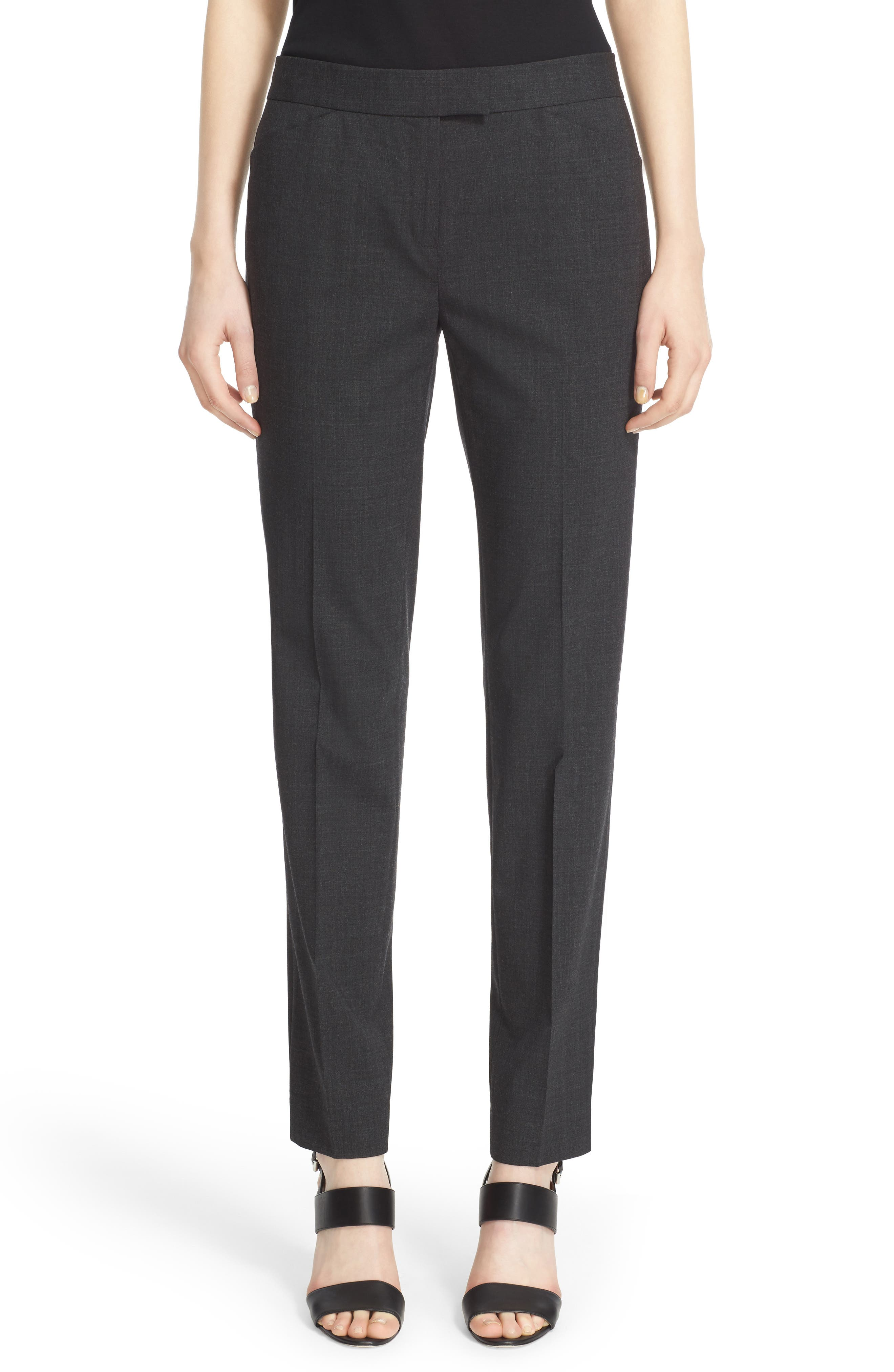 Main Image - Lafayette 148 New York Irving Stretch Wool Pants (Nordstrom Exclusive)