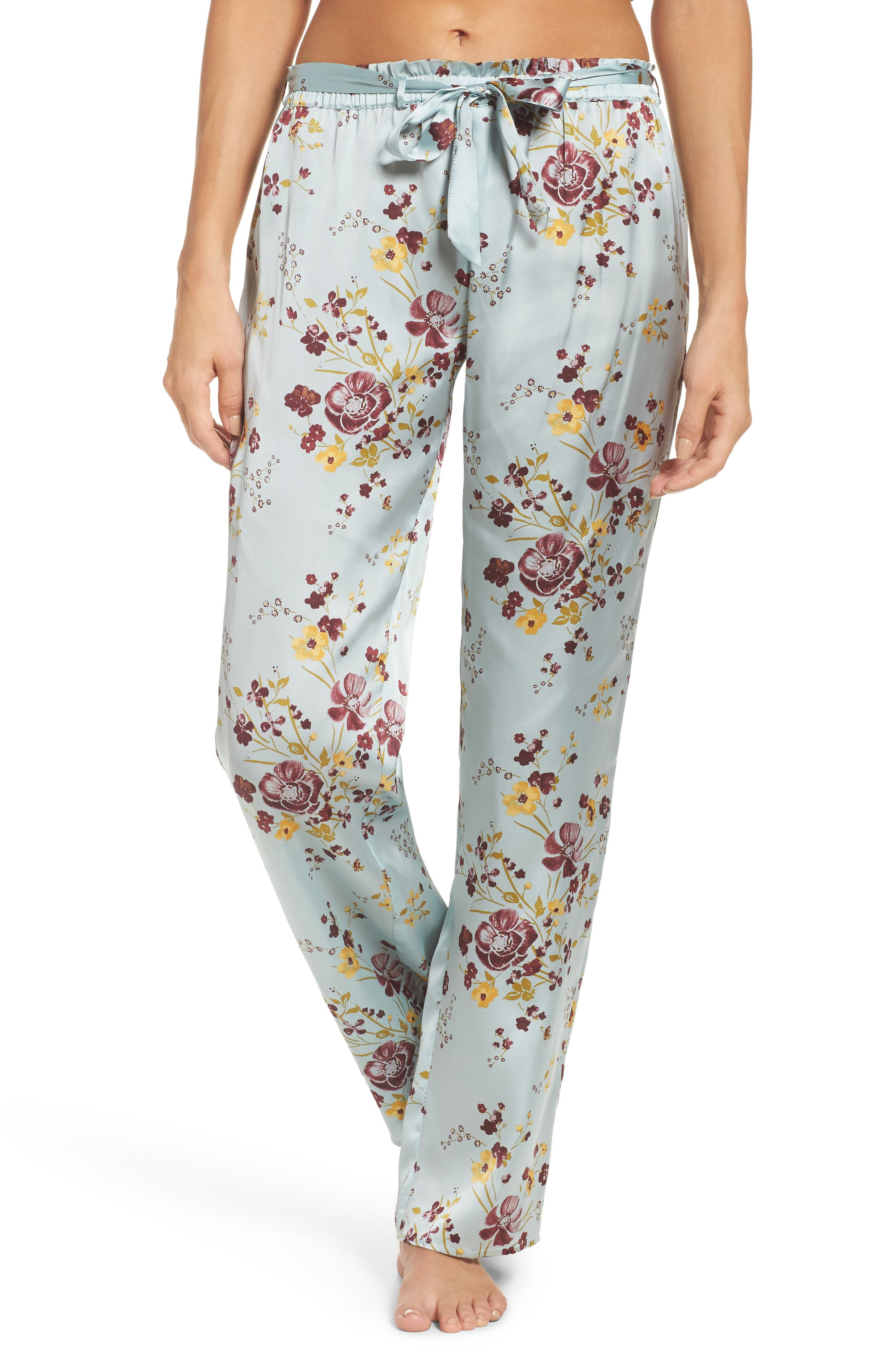 In My Dreams Pajama Pants,                             Main thumbnail 1, color,                             Blue Cloud Pretty Floral