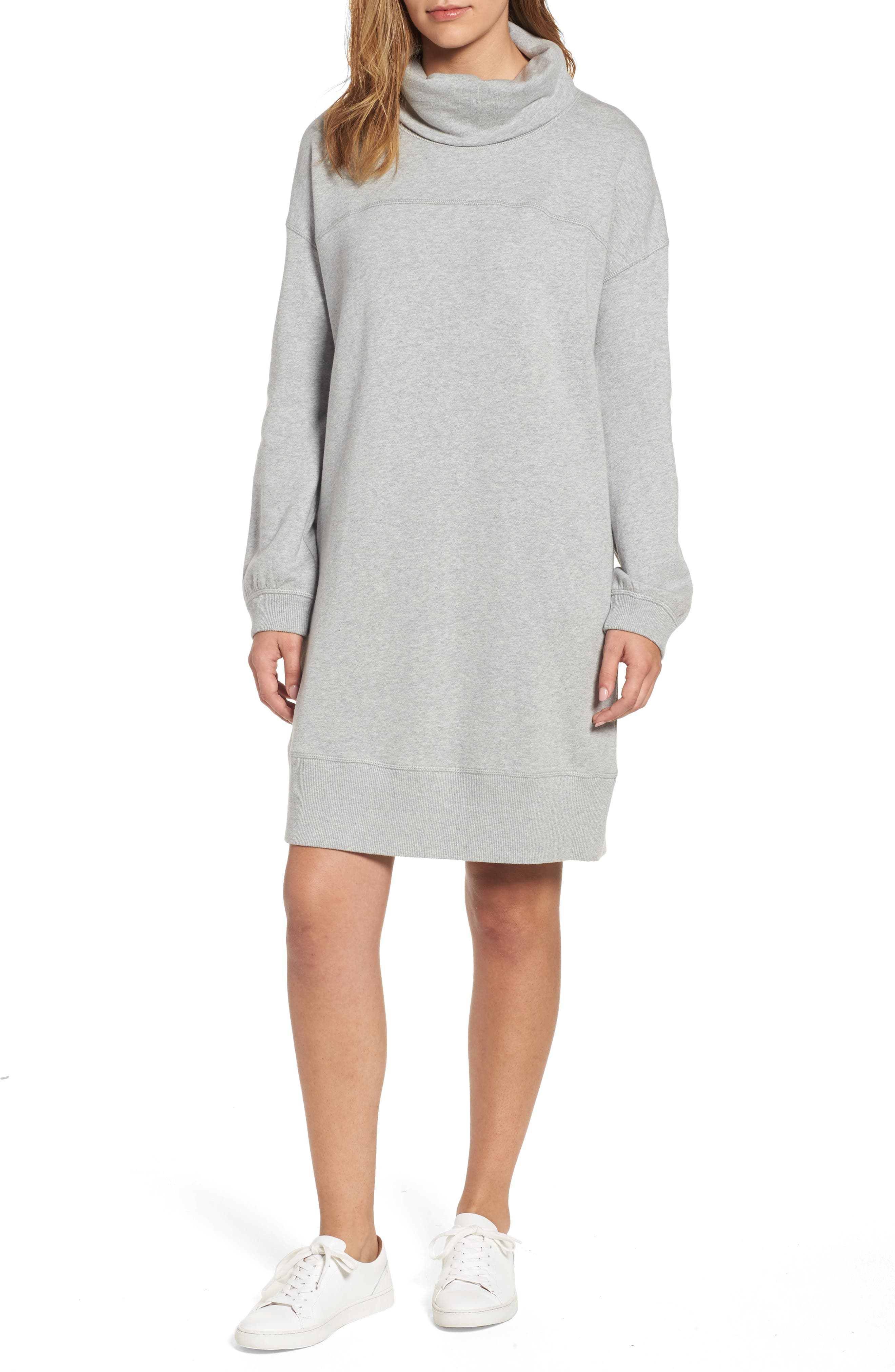Caslon® Cowl Neck Knit Dress (Regular & Petite)