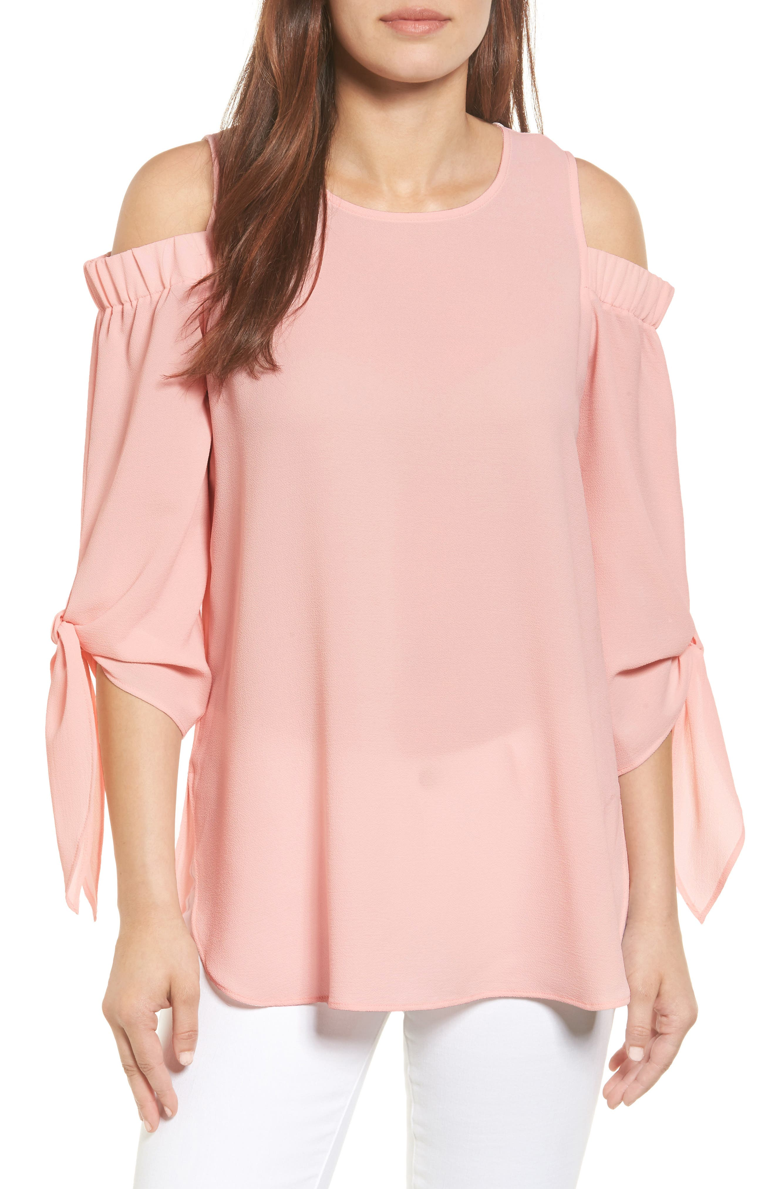 Cold Shoulder Top,                         Main,                         color, Blush