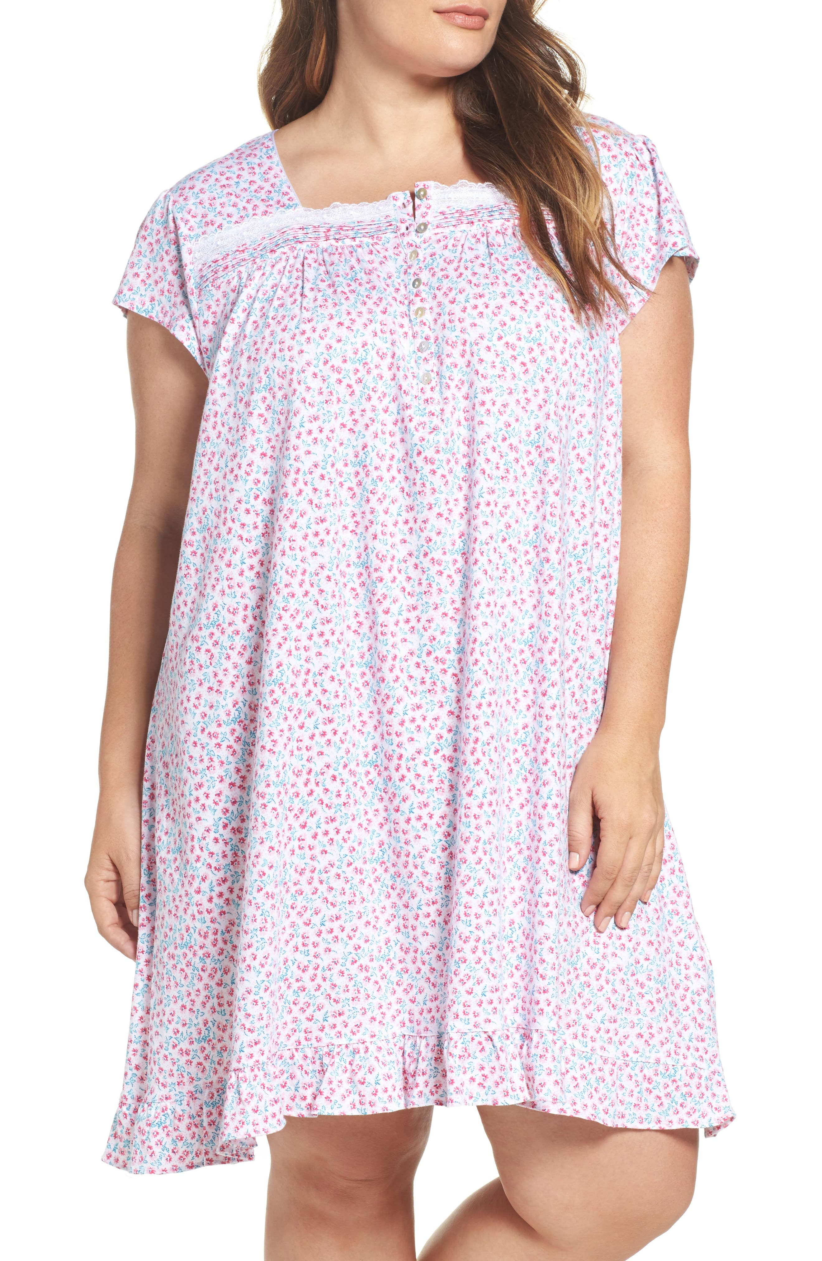 Alternate Image 1 Selected - Eileen West Short Nightgown (Plus Size)