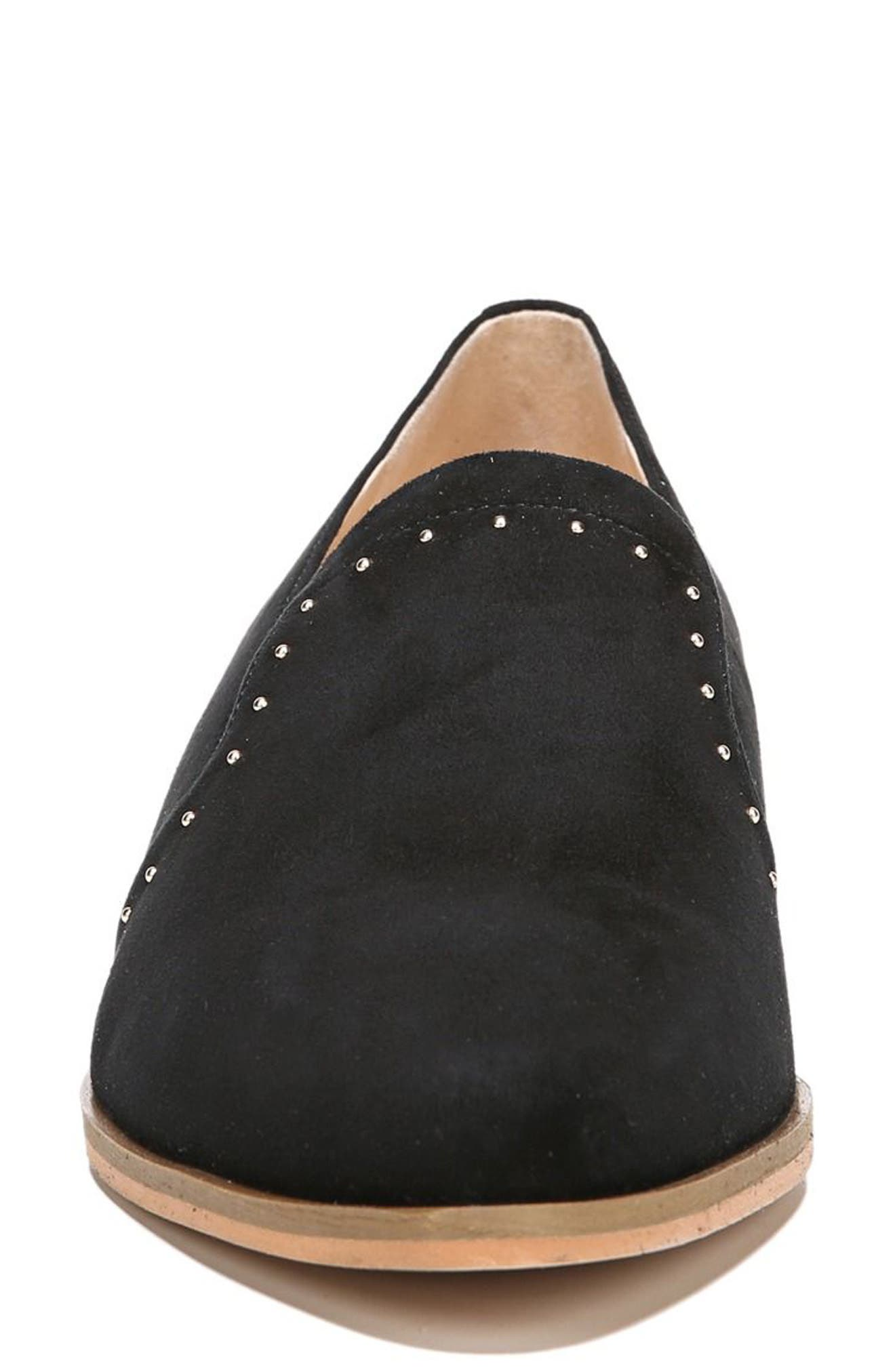 Keane Loafer Wedge,                             Alternate thumbnail 4, color,                             Black Suede