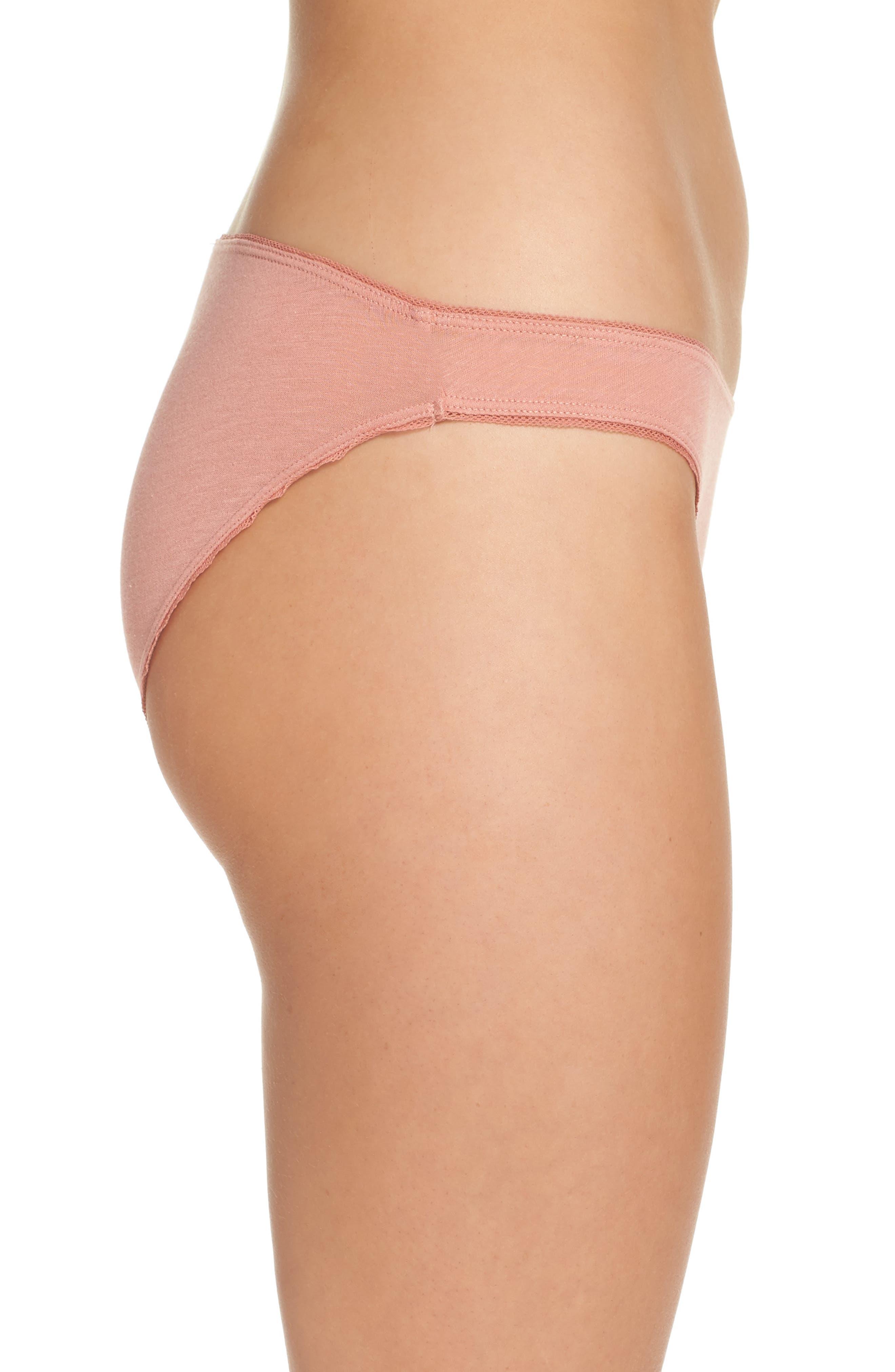 Organic Cotton Bikini,                             Alternate thumbnail 3, color,                             Vintage Pink