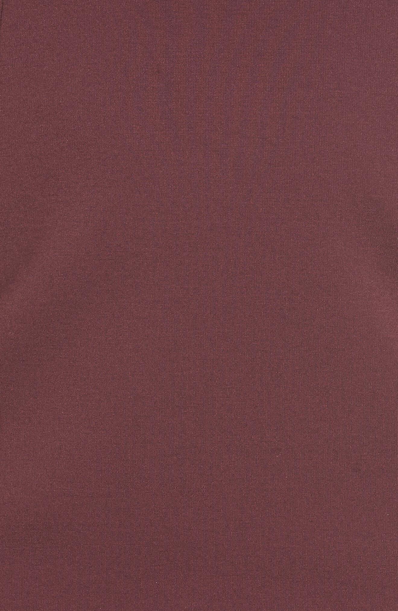 Alternate Image 5  - Halogen® Ruffle Sleeve Ponte Sheath Dress (Regular & Petite)