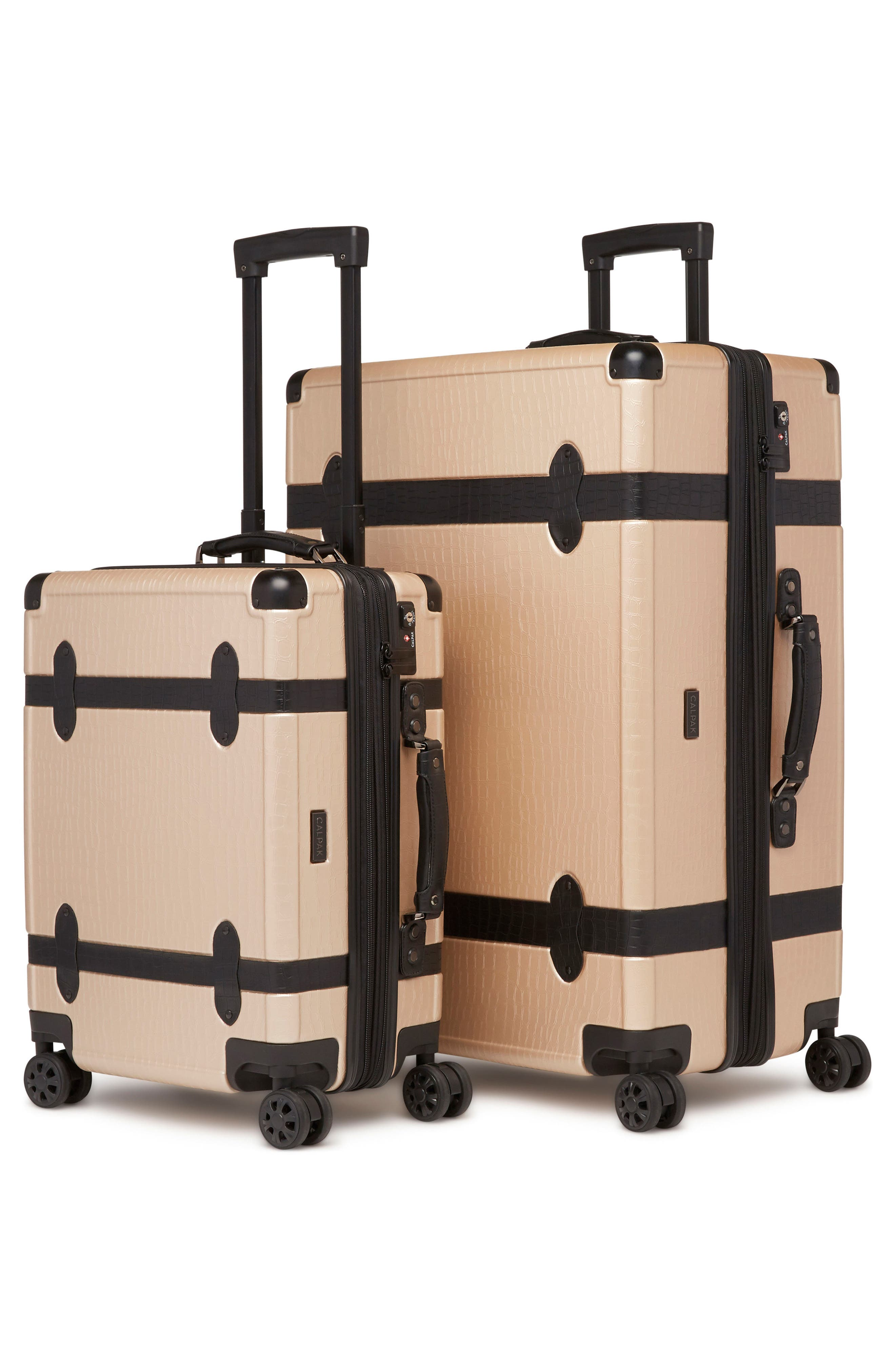 20-Inch & 28-Inch Trunk Rolling Luggage Set,                             Alternate thumbnail 4, color,                             Nude