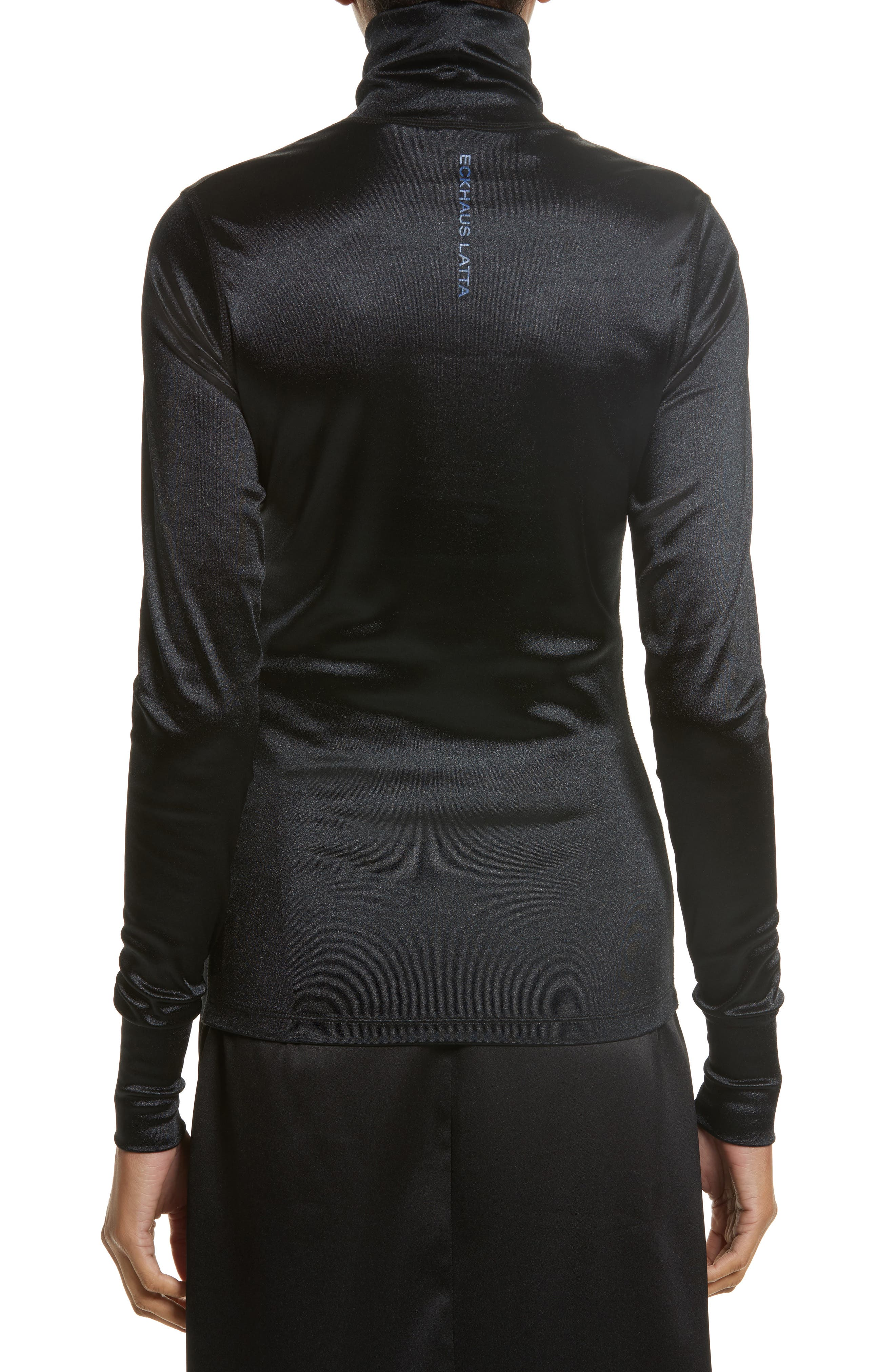 Sleek Stretch Turtleneck,                             Alternate thumbnail 3, color,                             Black