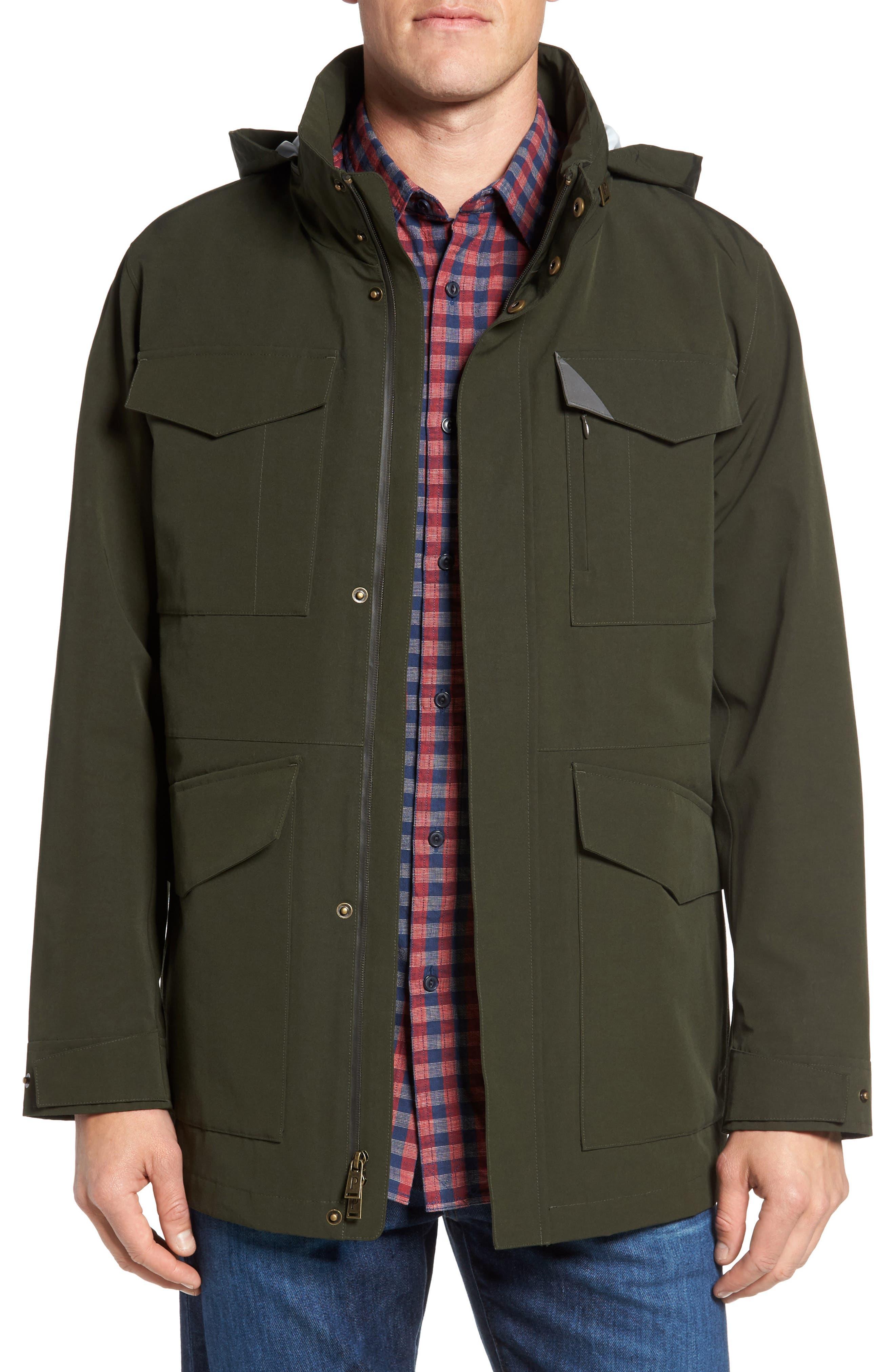 Clyde Hill Waterproof Field Jacket,                         Main,                         color, Rosin