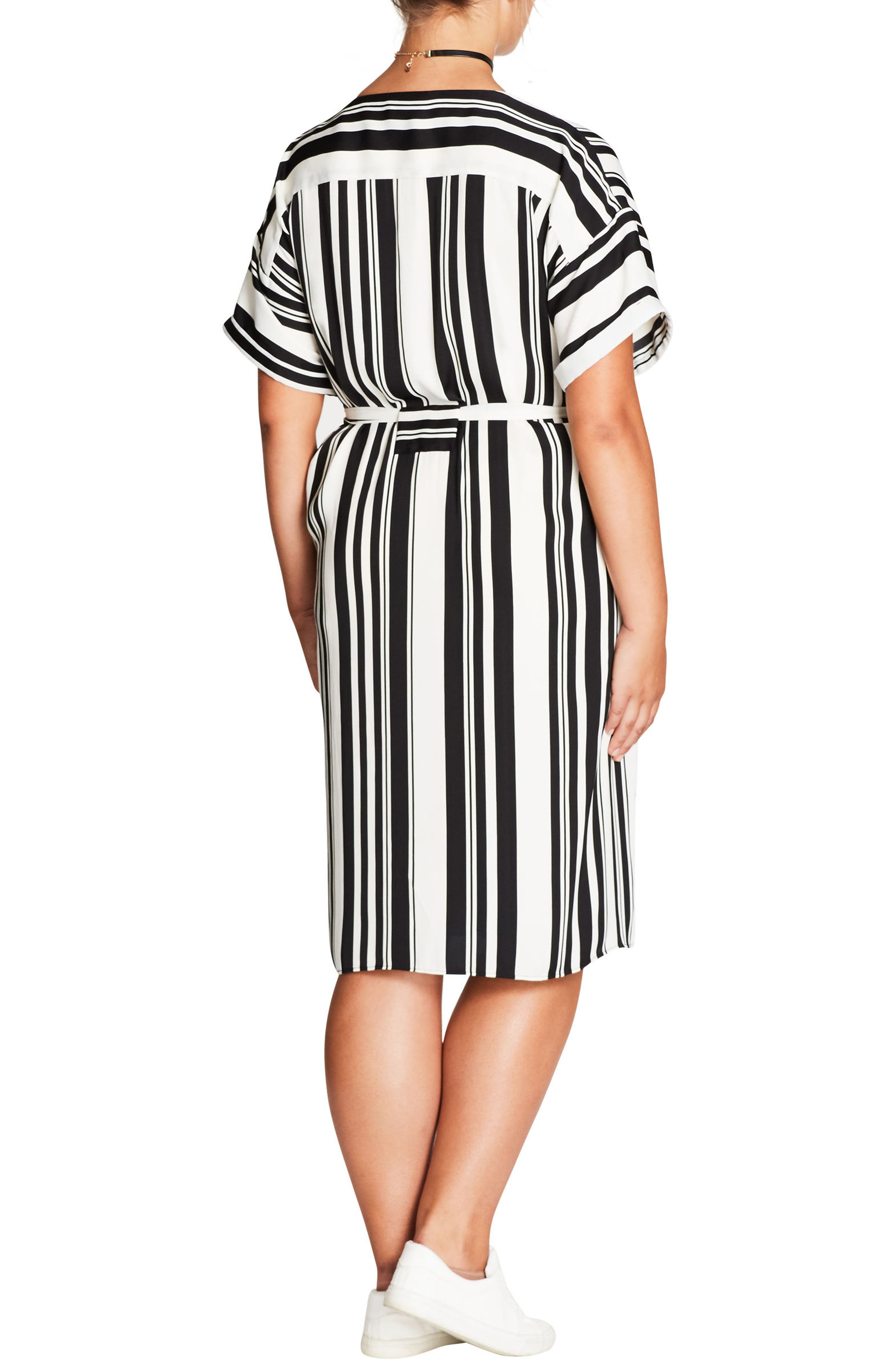 Alternate Image 2  - City Chic Sexy Stripe Dress (Plus Size)